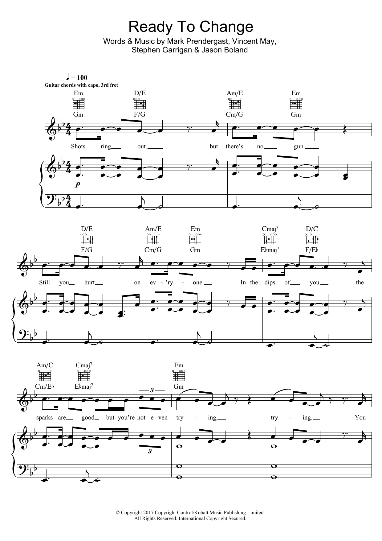 Sheet Music Digital Files To Print Licensed Kodaline Digital Sheet