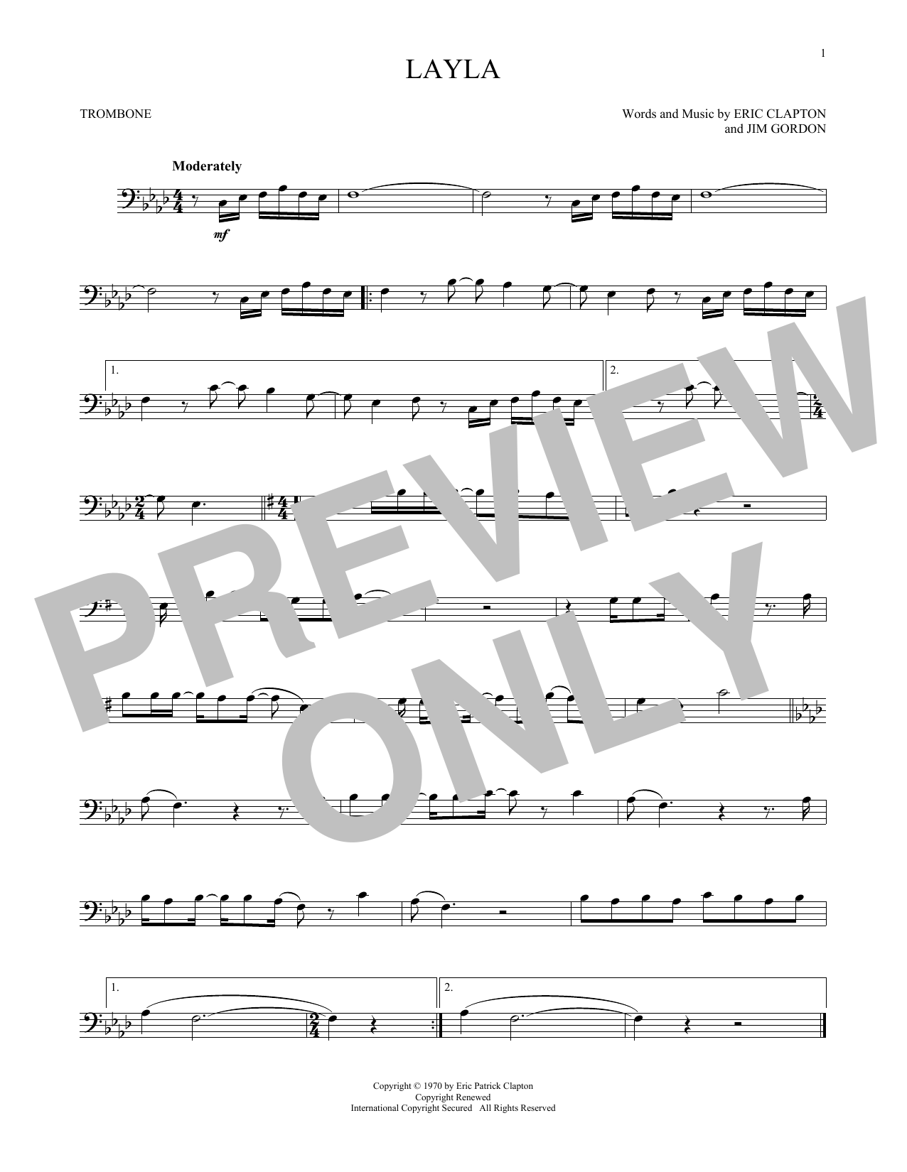 Pop Music Trombone At Stantons Sheet Music
