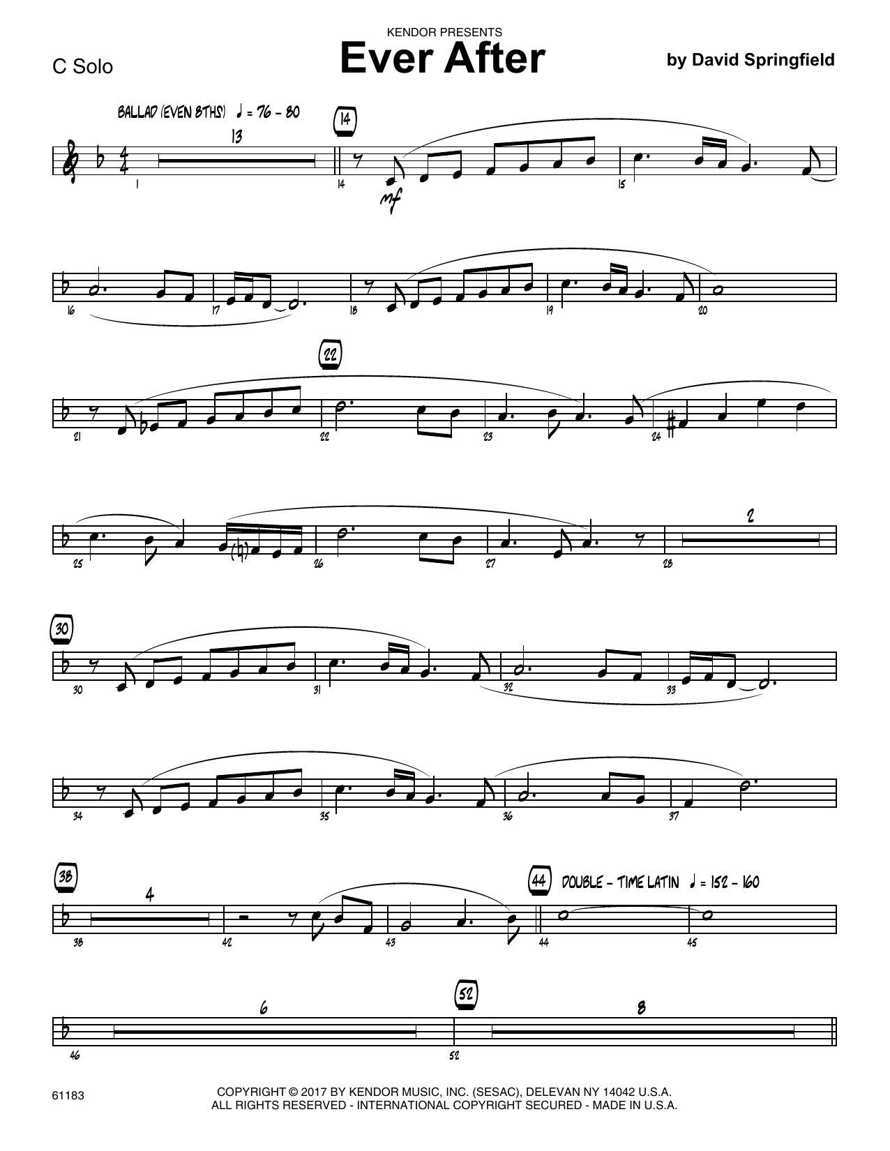 What a fool believes alto sax 1 sheet music at stantons sheet ever after solo sheet trumpet hexwebz Choice Image