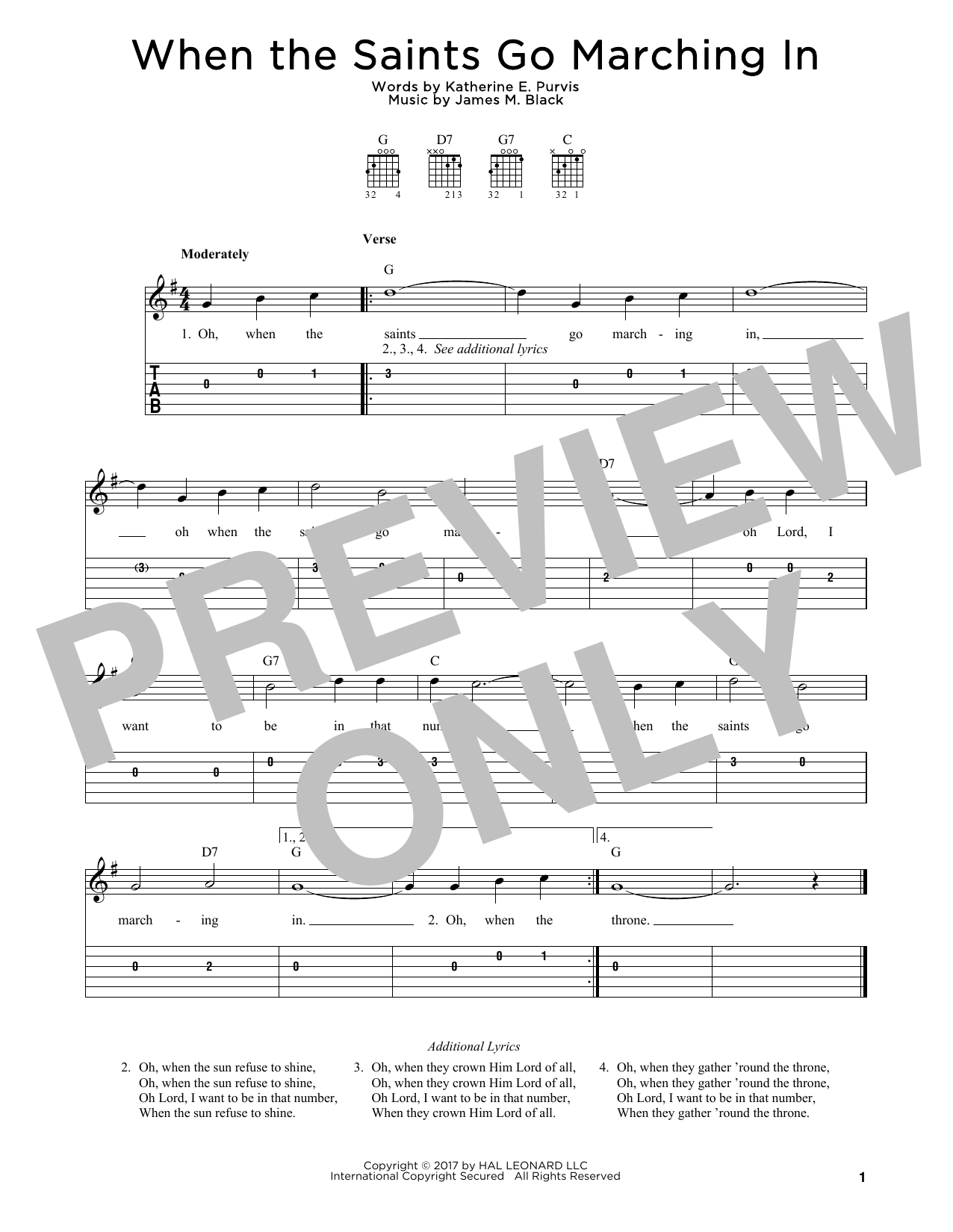 Sheet music digital files to print licensed katherine e purvis when the saints go marching in hexwebz Choice Image
