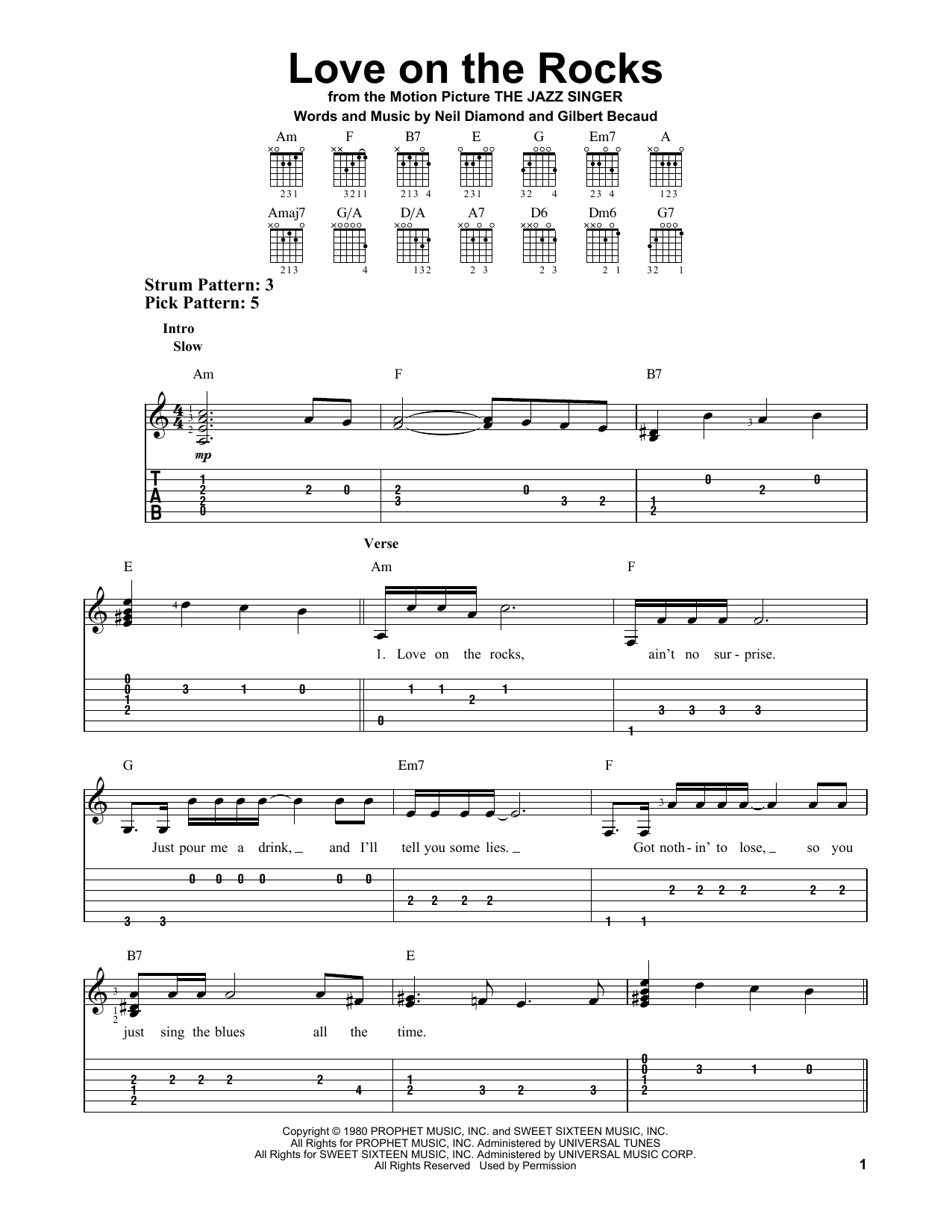 Diamonds chords