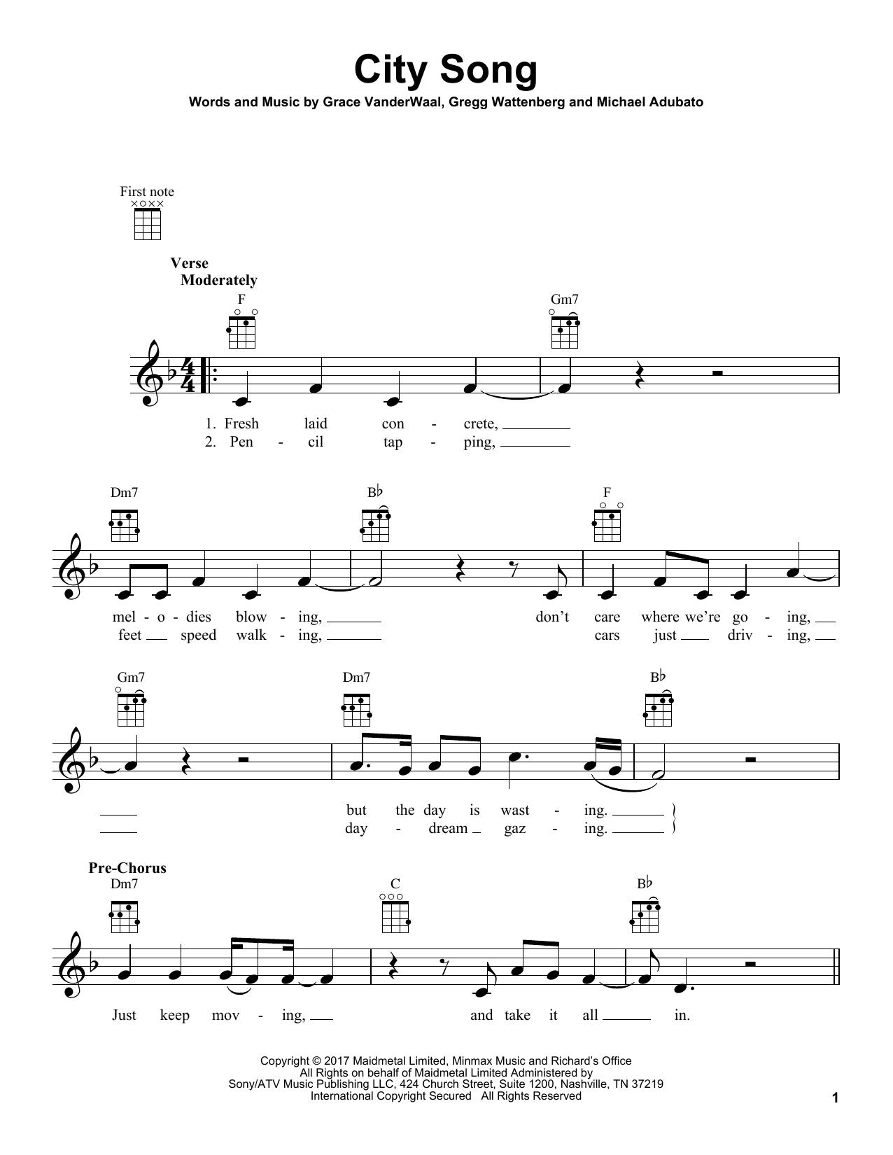 clearly grace vanderwaal chords