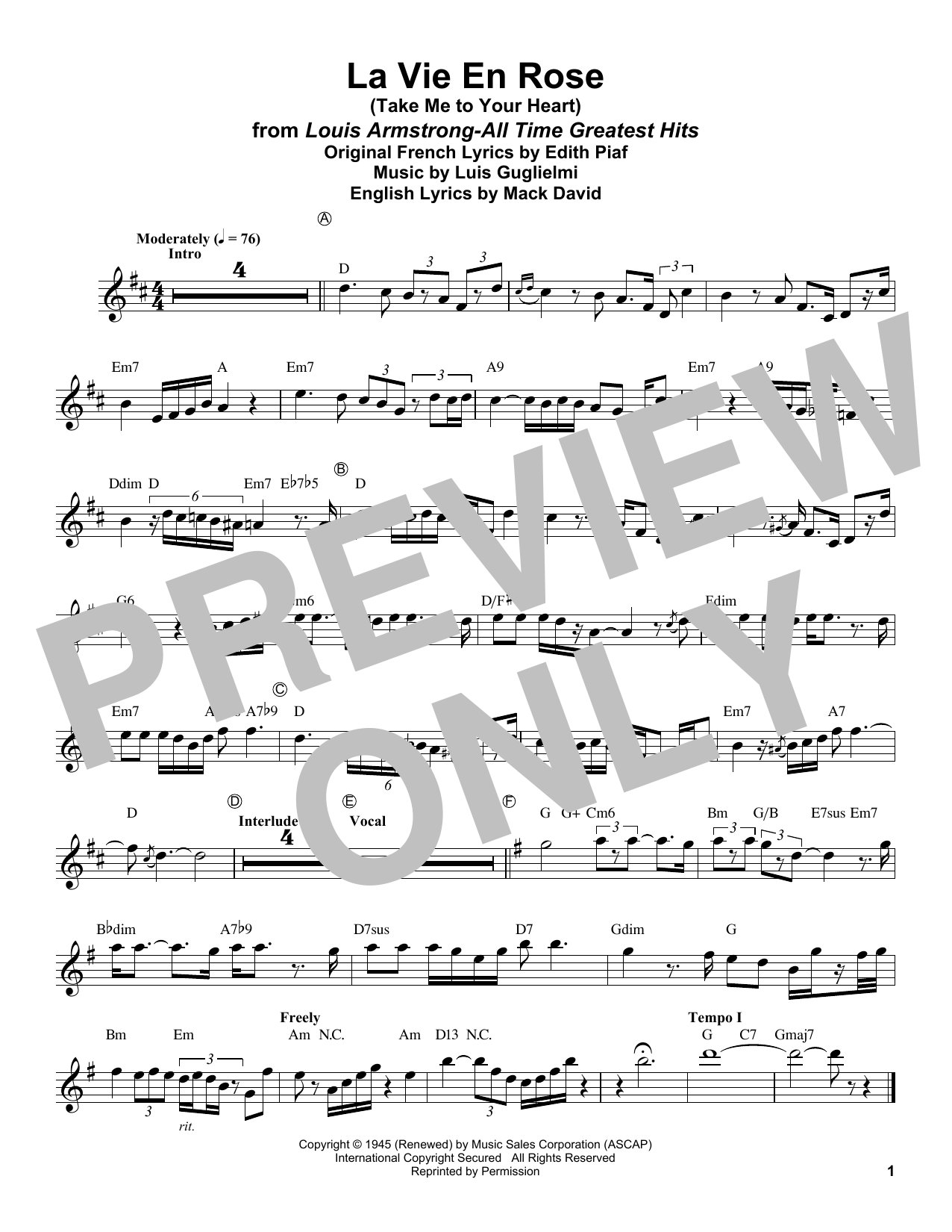 Sheet Music Digital Files To Print Licensed Edith Piaf Digital