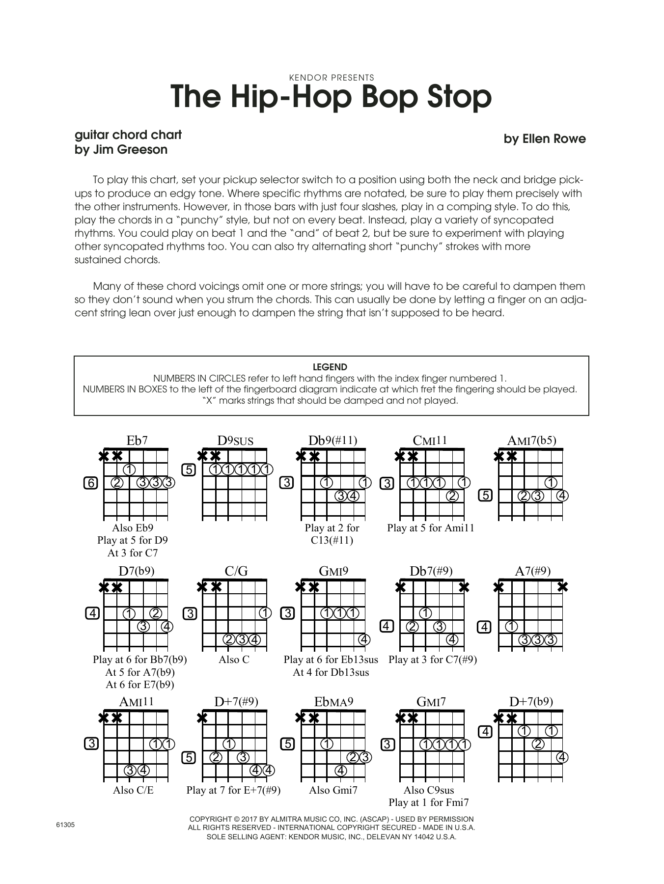 The Hip Hop Bop Stop Guitar Chord Chart At Stantons Sheet Music