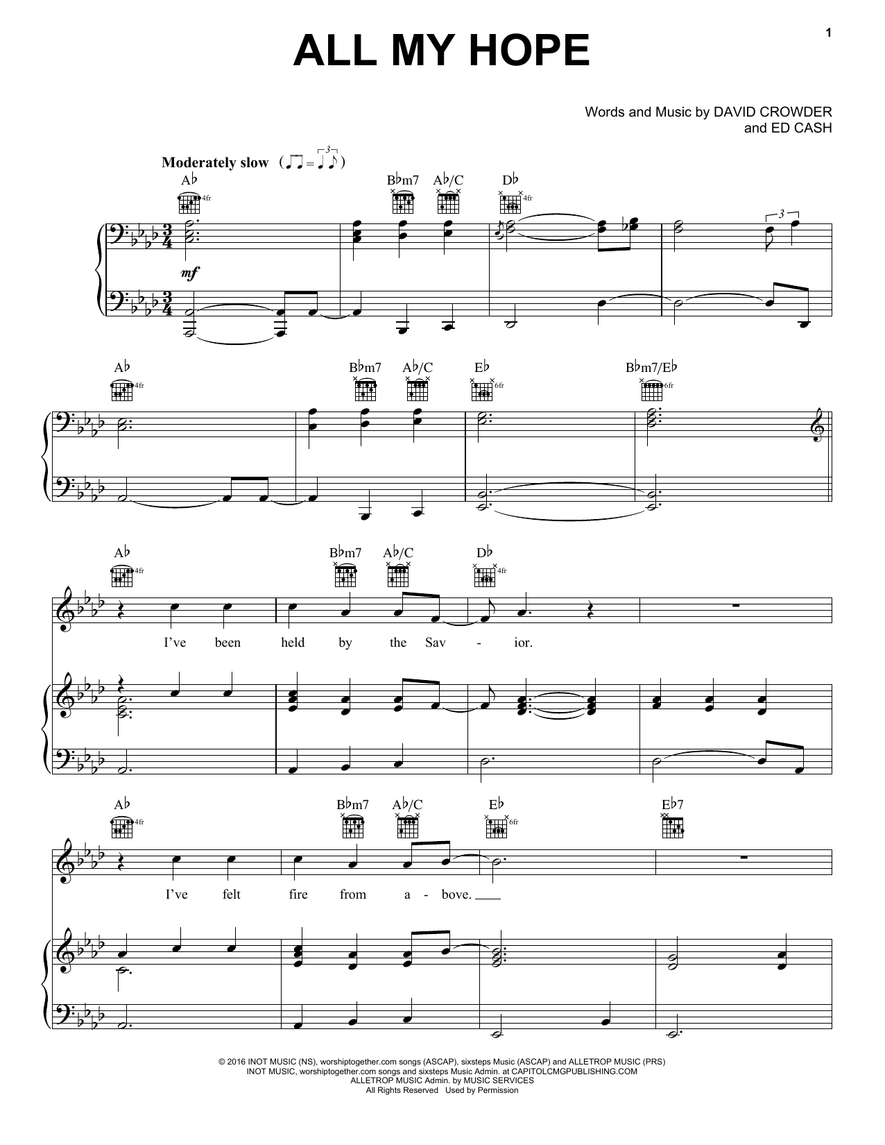 Sheet Music Digital Files To Print Licensed David Crowder Digital