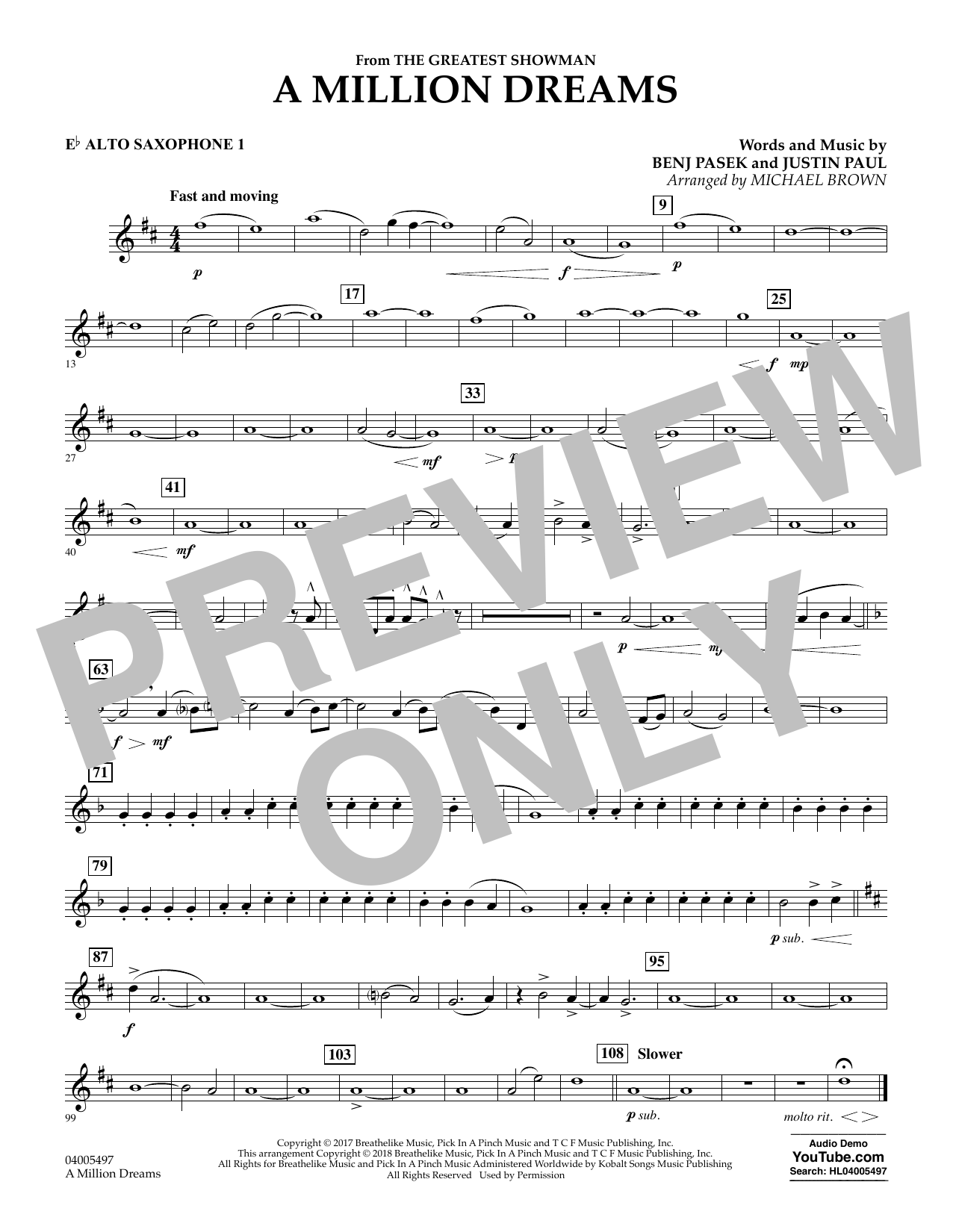 picture about A Million Dreams Lyrics Printable called A Million Wants (towards The Biggest Showman) (arr. Michael