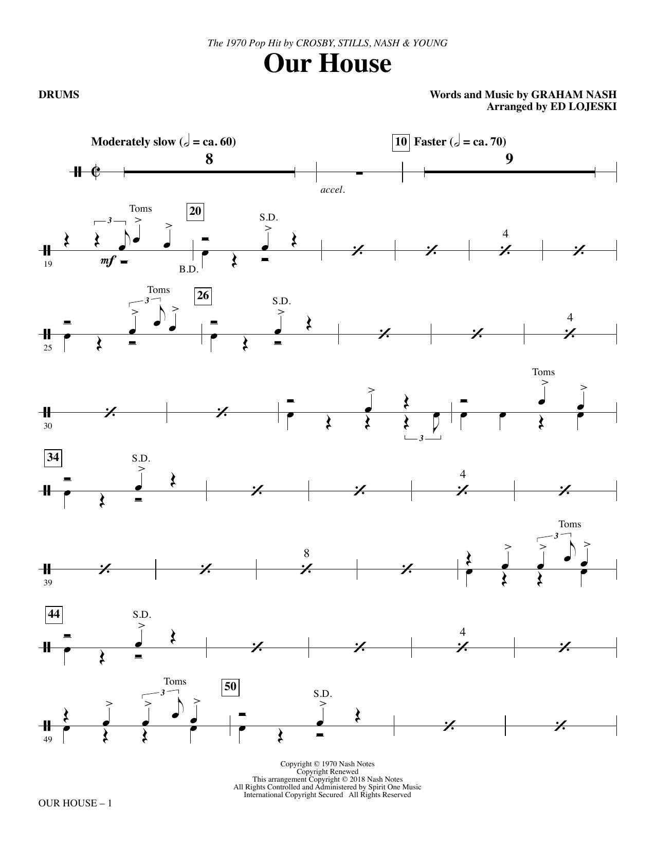 Our House (arr. Ed Lojeski) - Drums