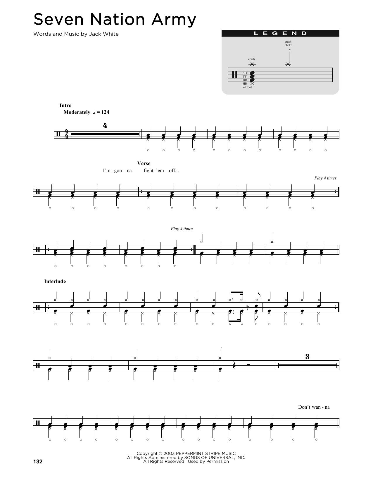 Sheet Music Digital Files To Print Licensed White Stripes Digital
