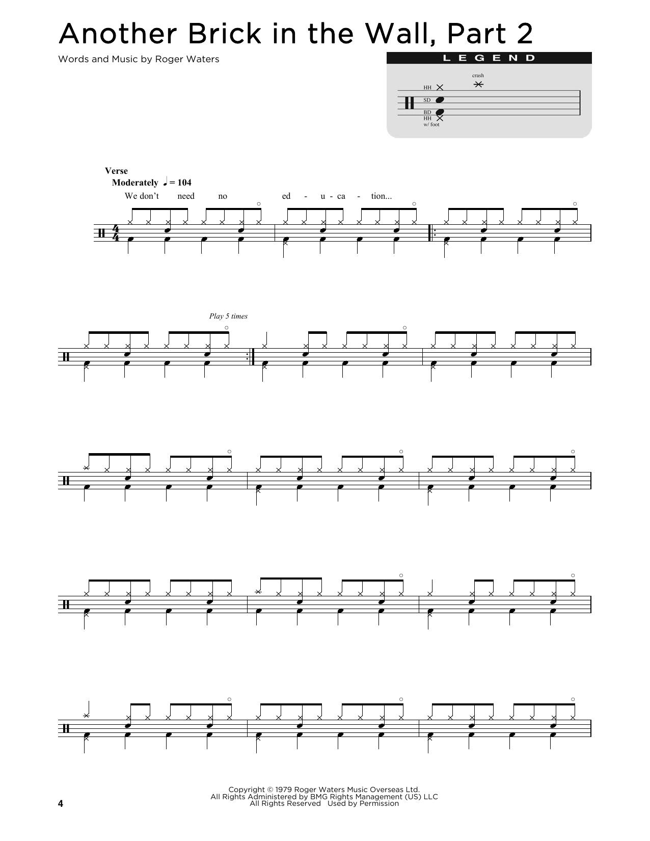 Sheet Music Digital Files To Print Licensed Pink Floyd Digital