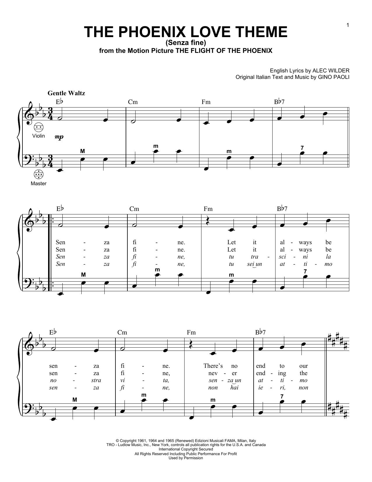 senza fine lyrics