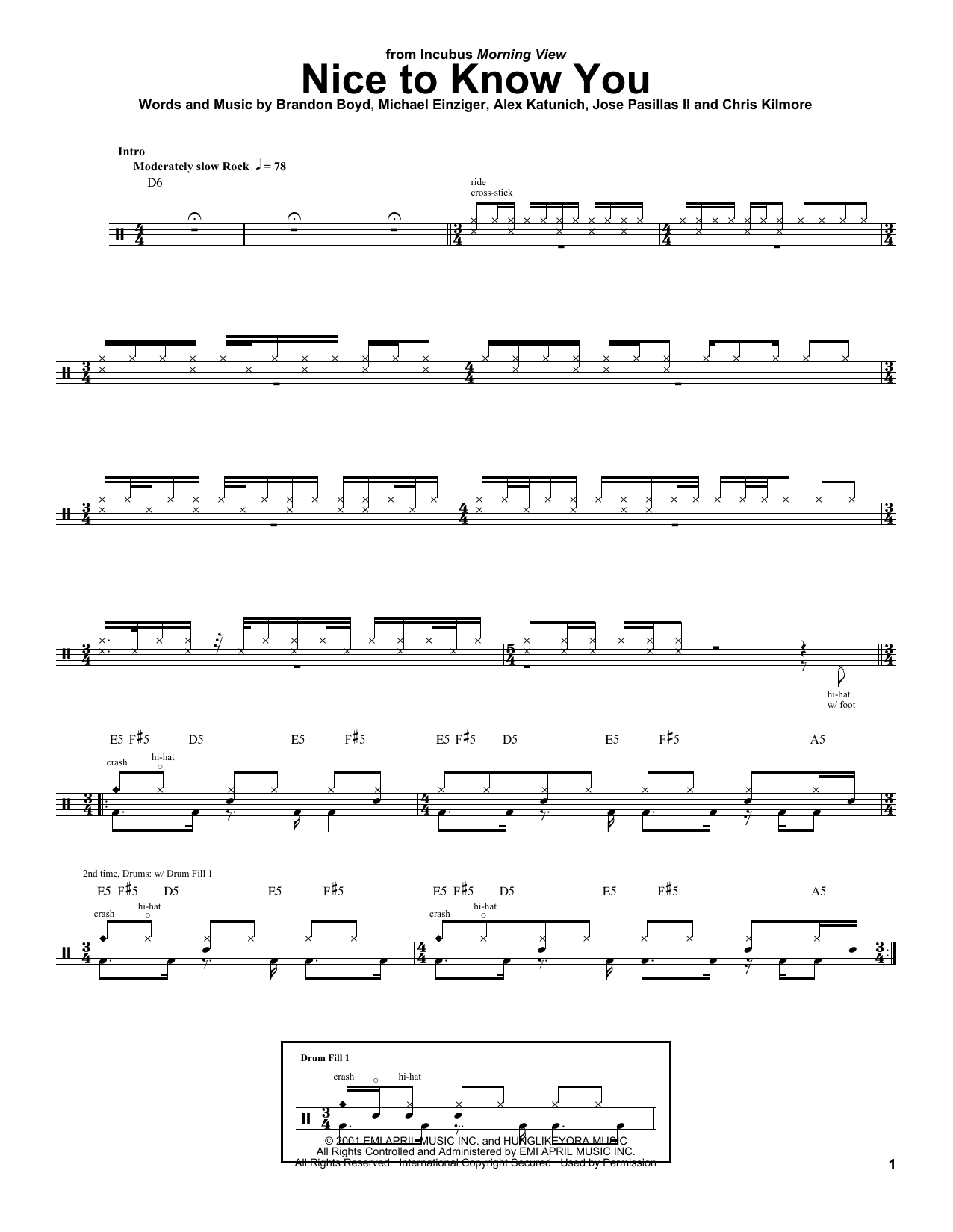 Sheet music digital files to print licensed jose pasillas ii nice to know you hexwebz Image collections