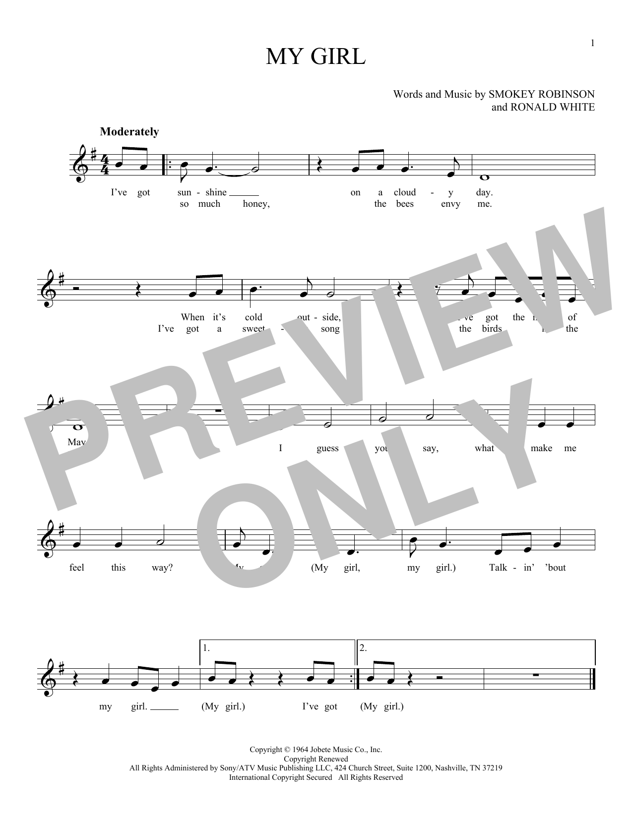 Sheet Music Digital Files To Print Licensed The Temptations