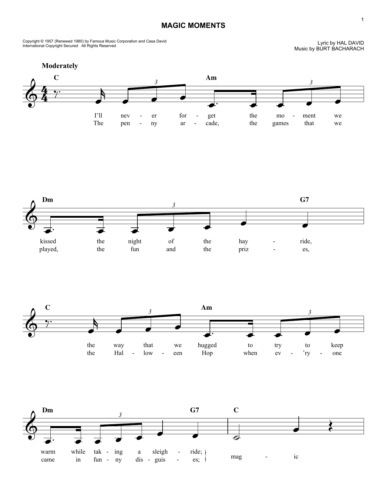 Sheet Music Digital Files To Print - Licensed Perry Como Digital ...