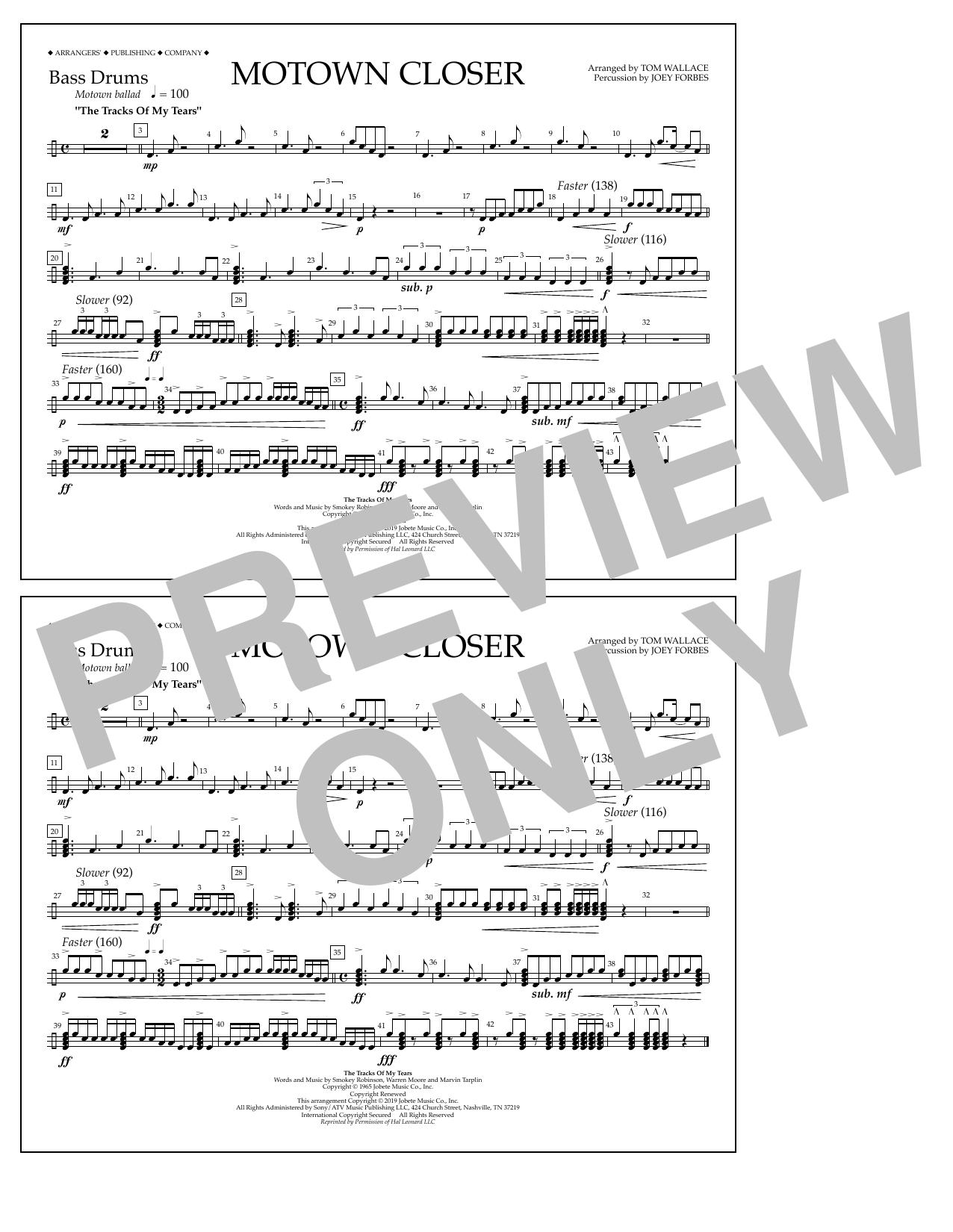 Motown Closer (arr. Tom Wallace) - Bass Drums