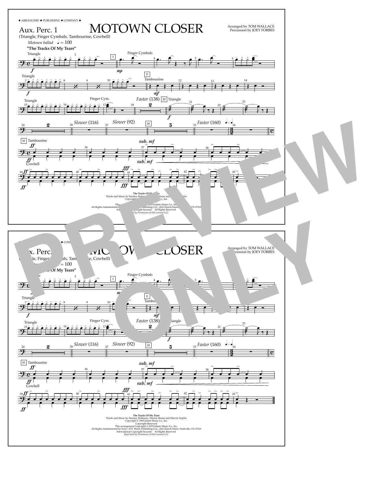 Motown Closer (arr. Tom Wallace) - Aux. Perc. 1