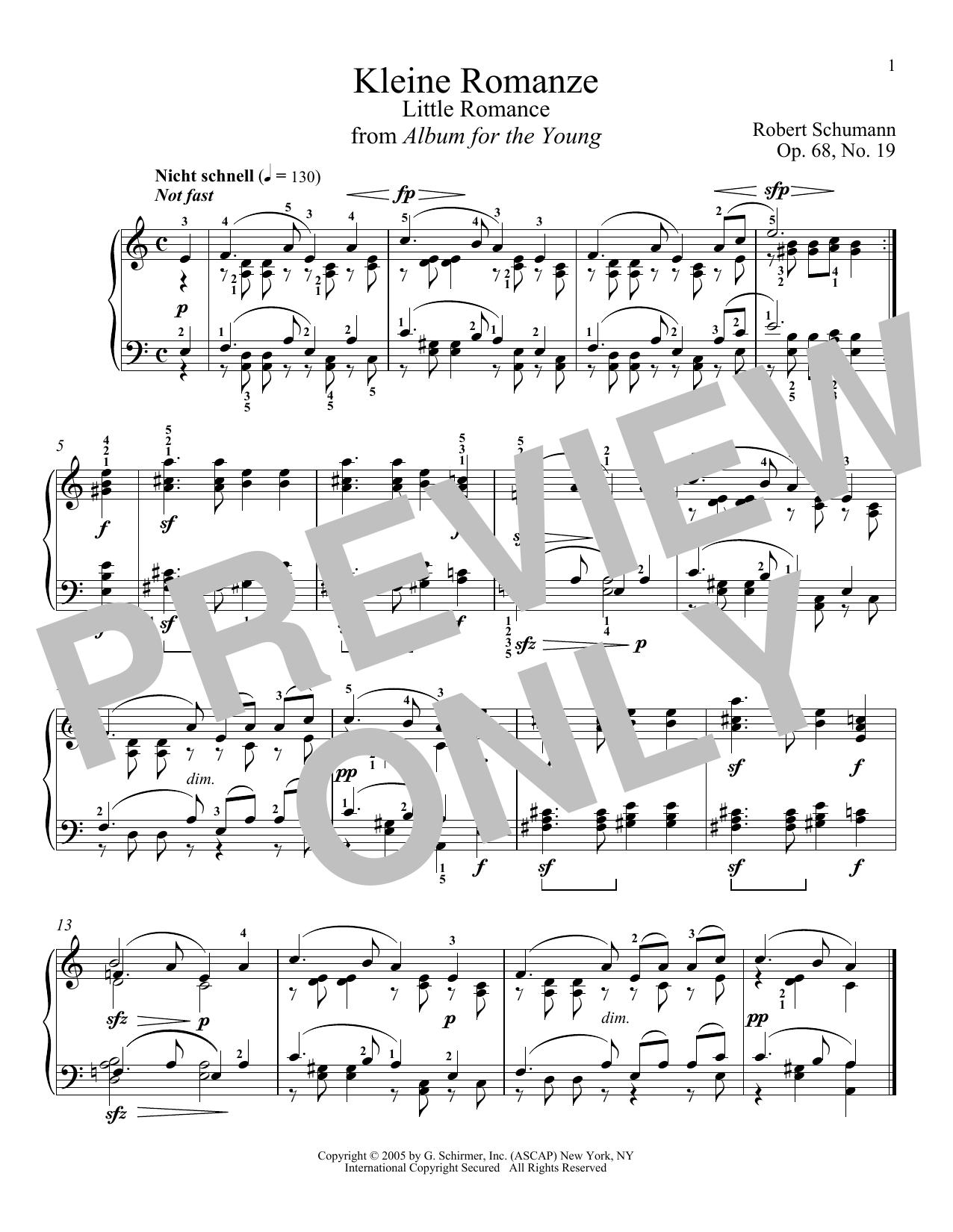 Schumann - Selections from Album for the Young, Opus 68 - Book/CD by Robert Schumann Linn, Jennifer
