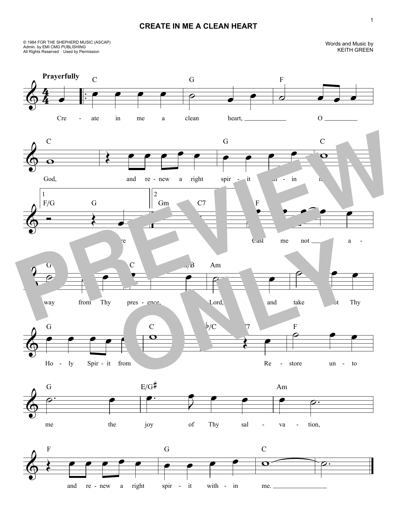 Sheet Music Digital Files To Print Licensed Keith Green Digital