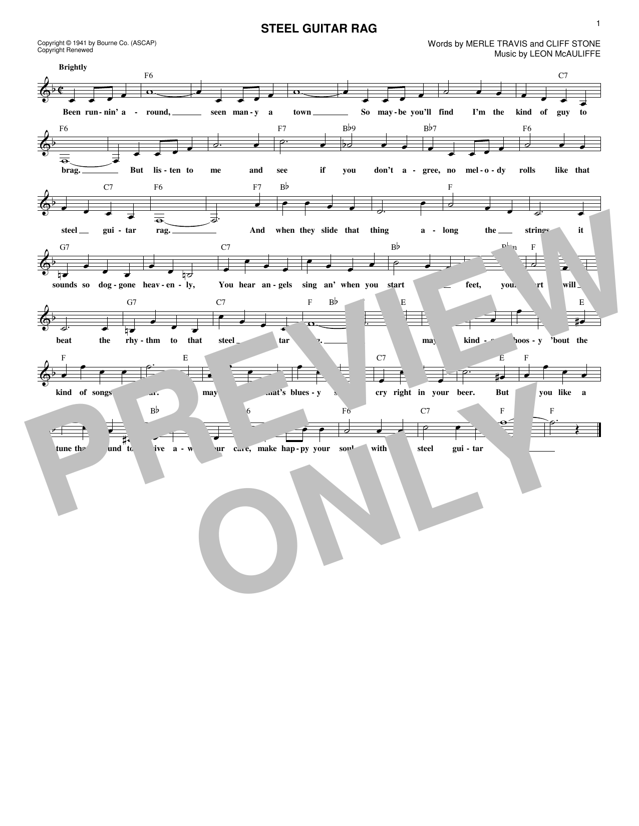 Sheet Music Digital Files To Print Licensed Merle Travis Digital