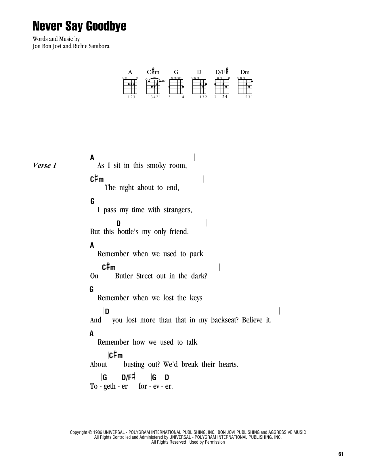 livin on a prayer pdf tab
