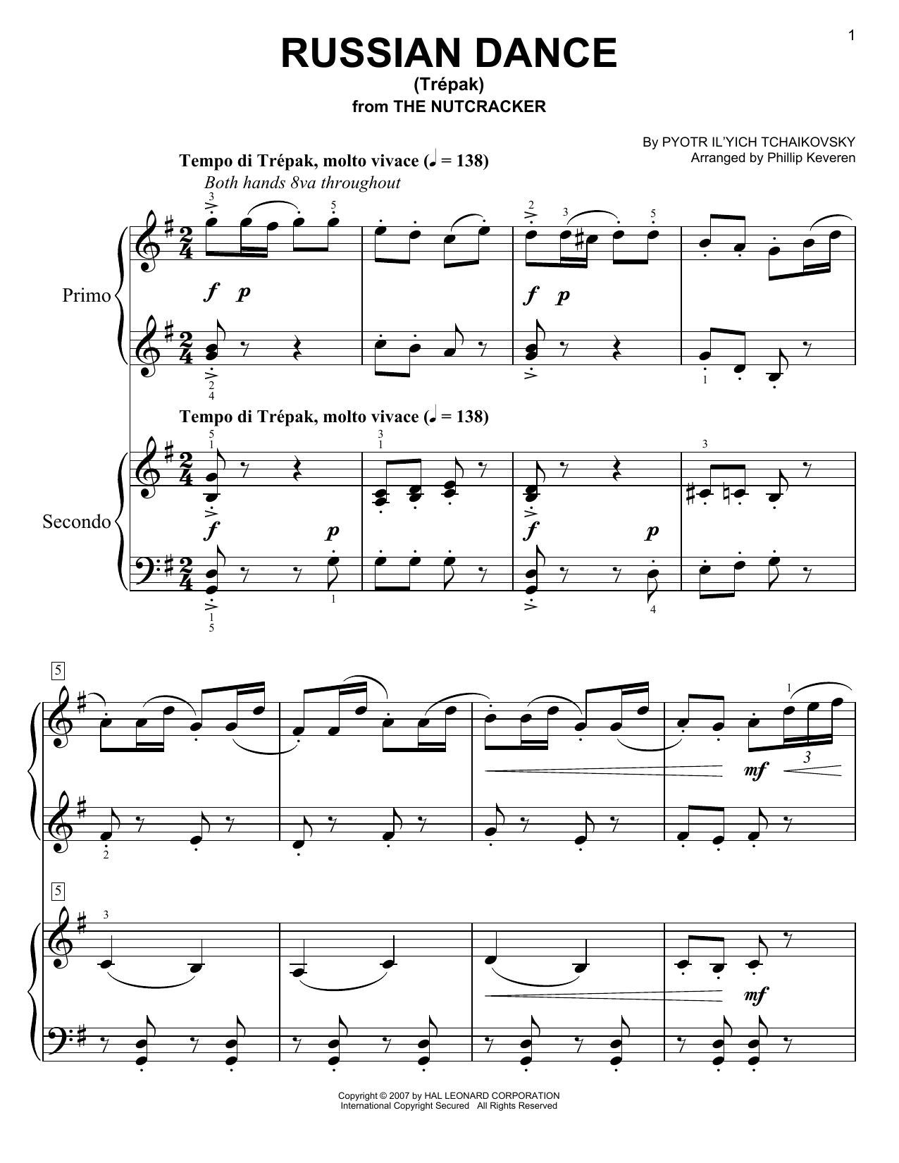 "Pyotr Il'yich Tchaikovsky - Russian Dance (""Trepak"")"