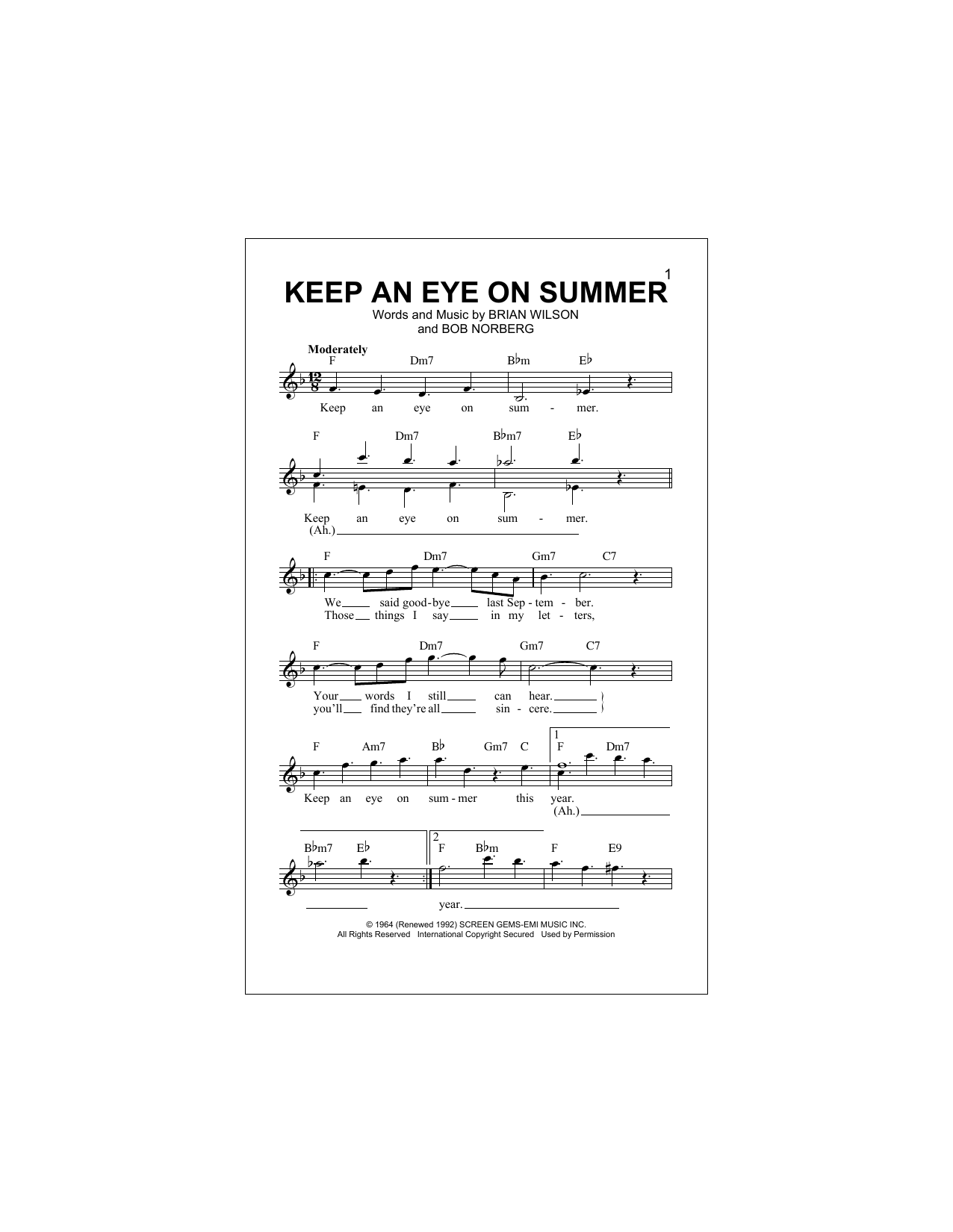 The Beach Boys - Keep An Eye On Summer
