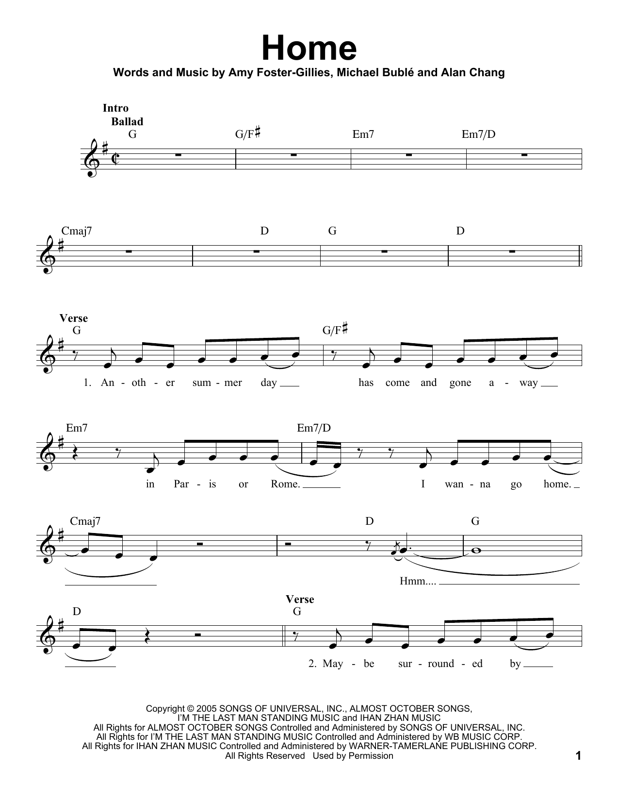 Sheet Music Digital Files To Print - Licensed Michael Bublé Digital ...