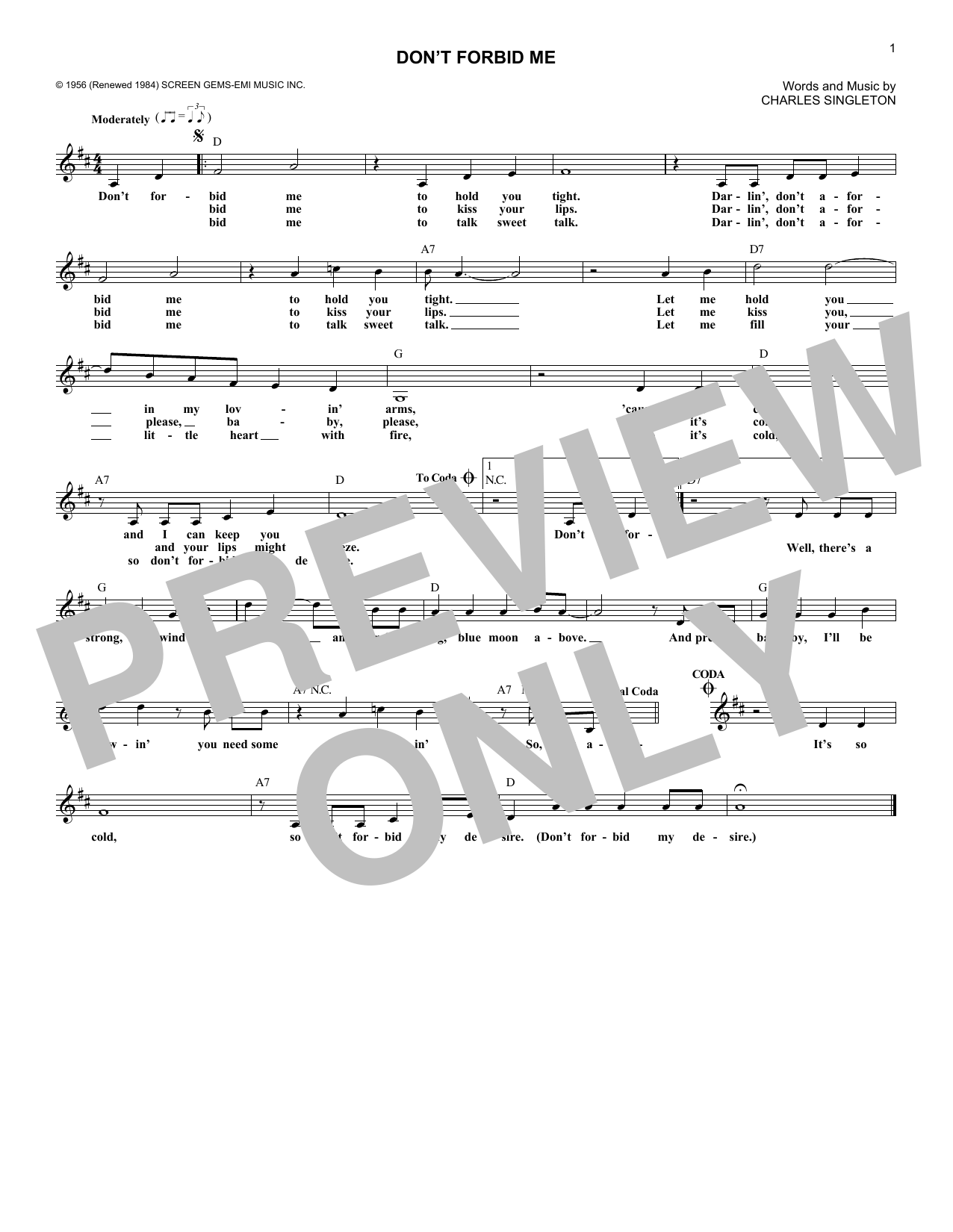 Pat Boone - Don't Forbid Me