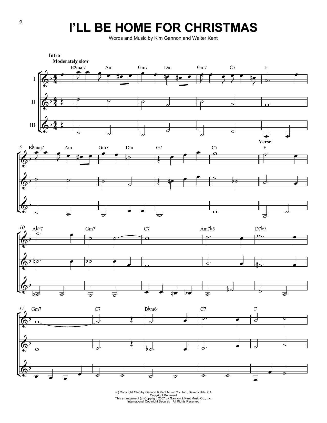 Partition autre I'll Be Home For Christmas de Bing Crosby - Autre