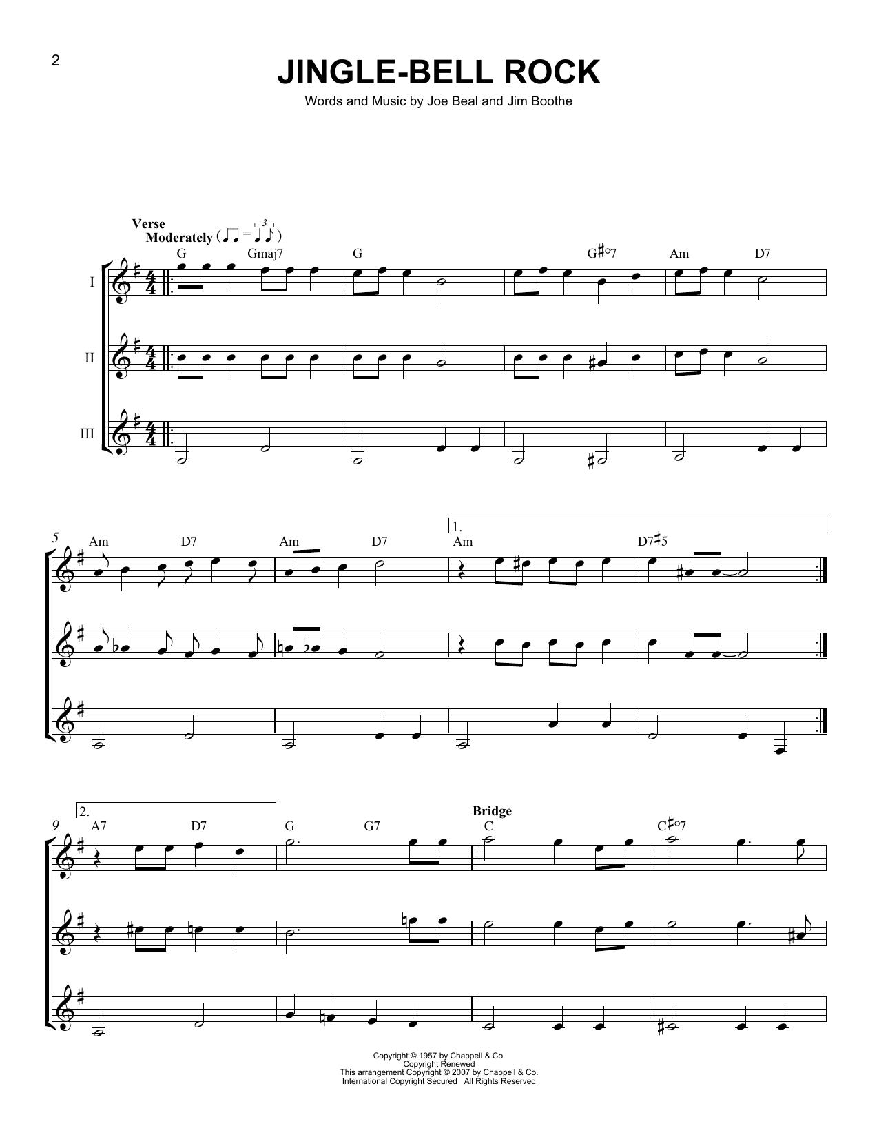 Partition autre Jingle Bell Rock de Bobby Helms - Autre