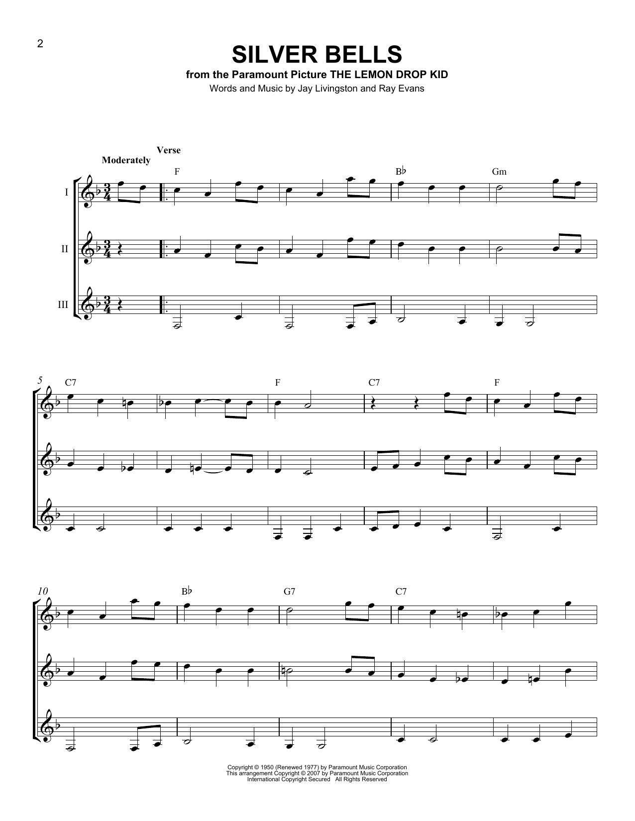 Partition autre Silver Bells de Jay Livingston - Autre