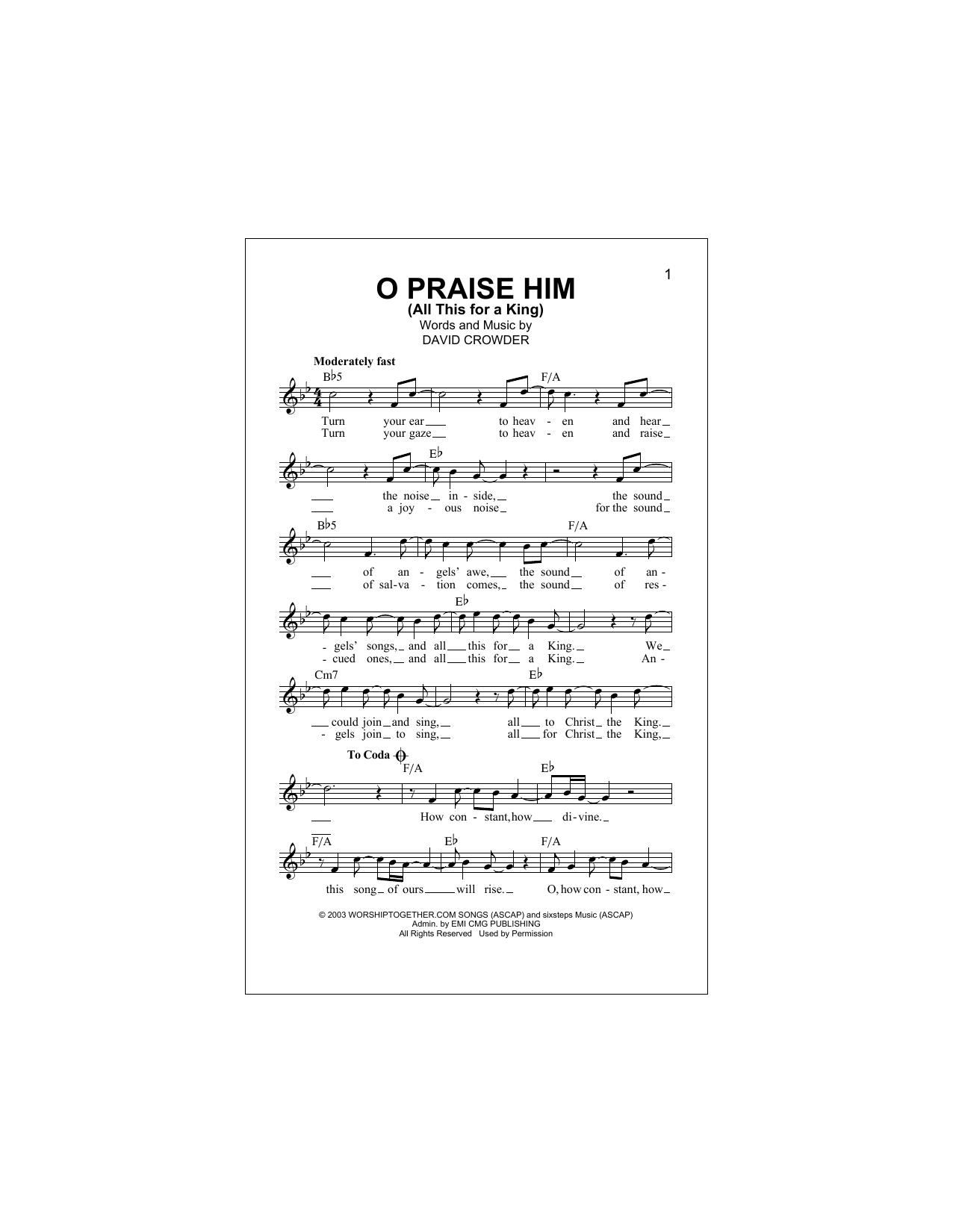 Sheet Music Digital Files To Print Licensed David Crowderband