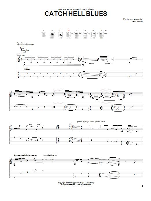 Three stripes on a cadillac chords guitar