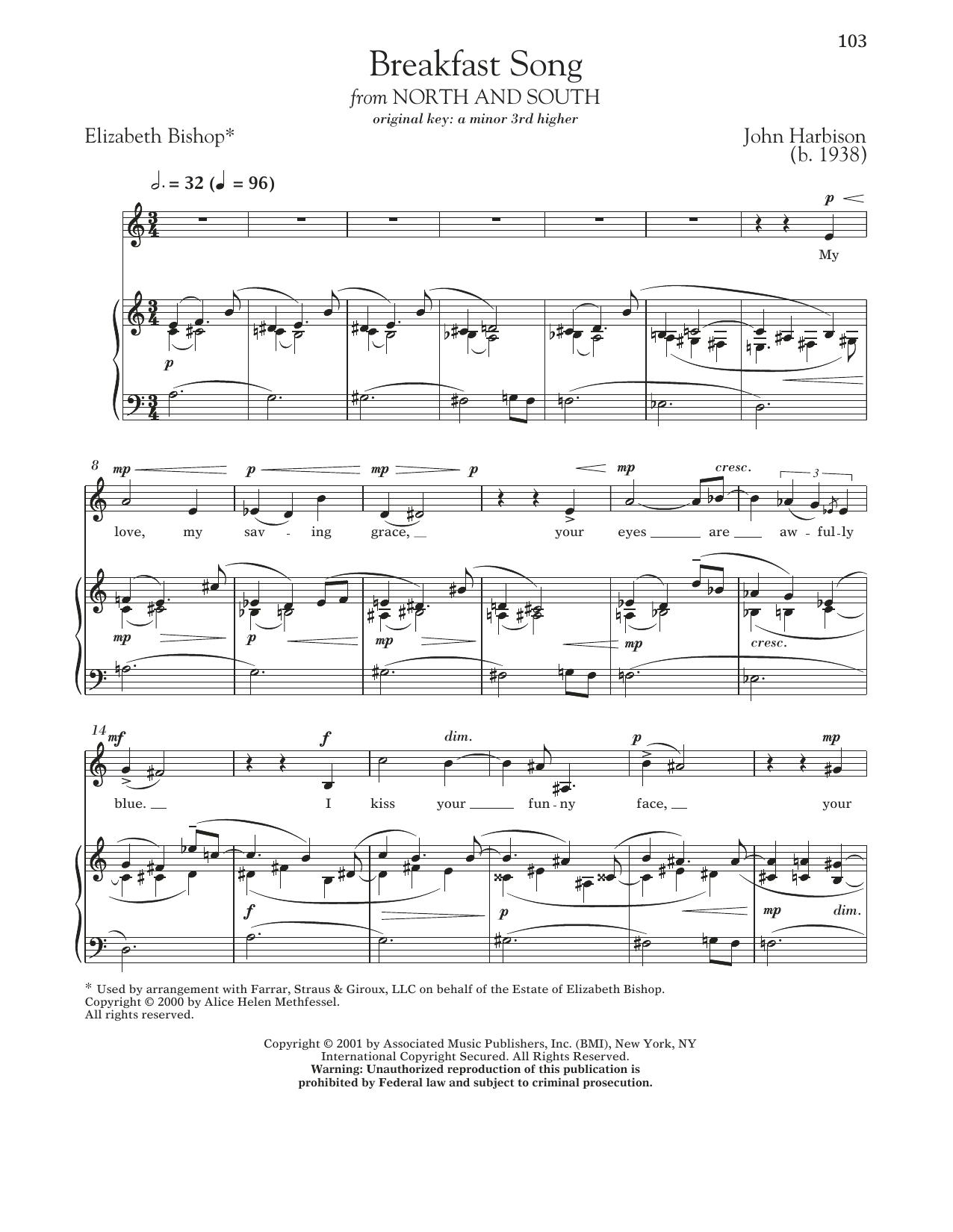 John Harbison - Breakfast Song
