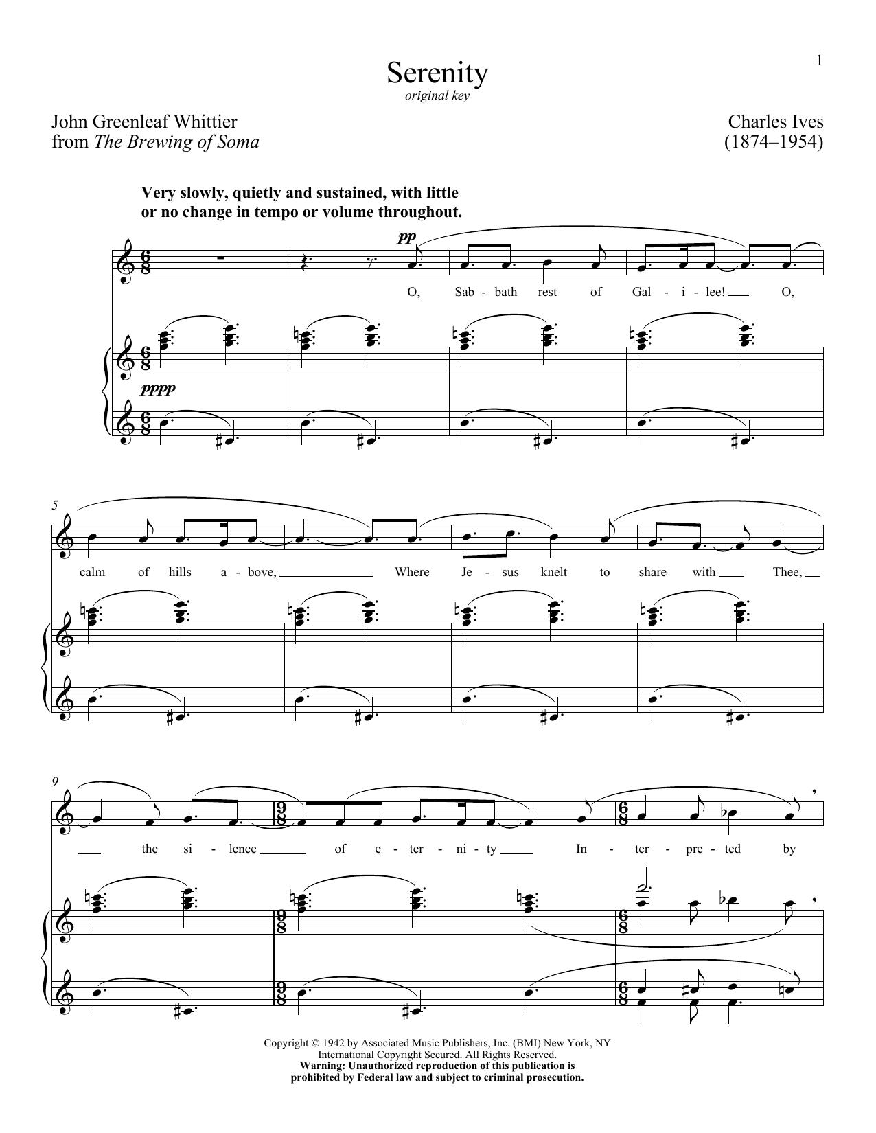 Charles Ives - Serenity