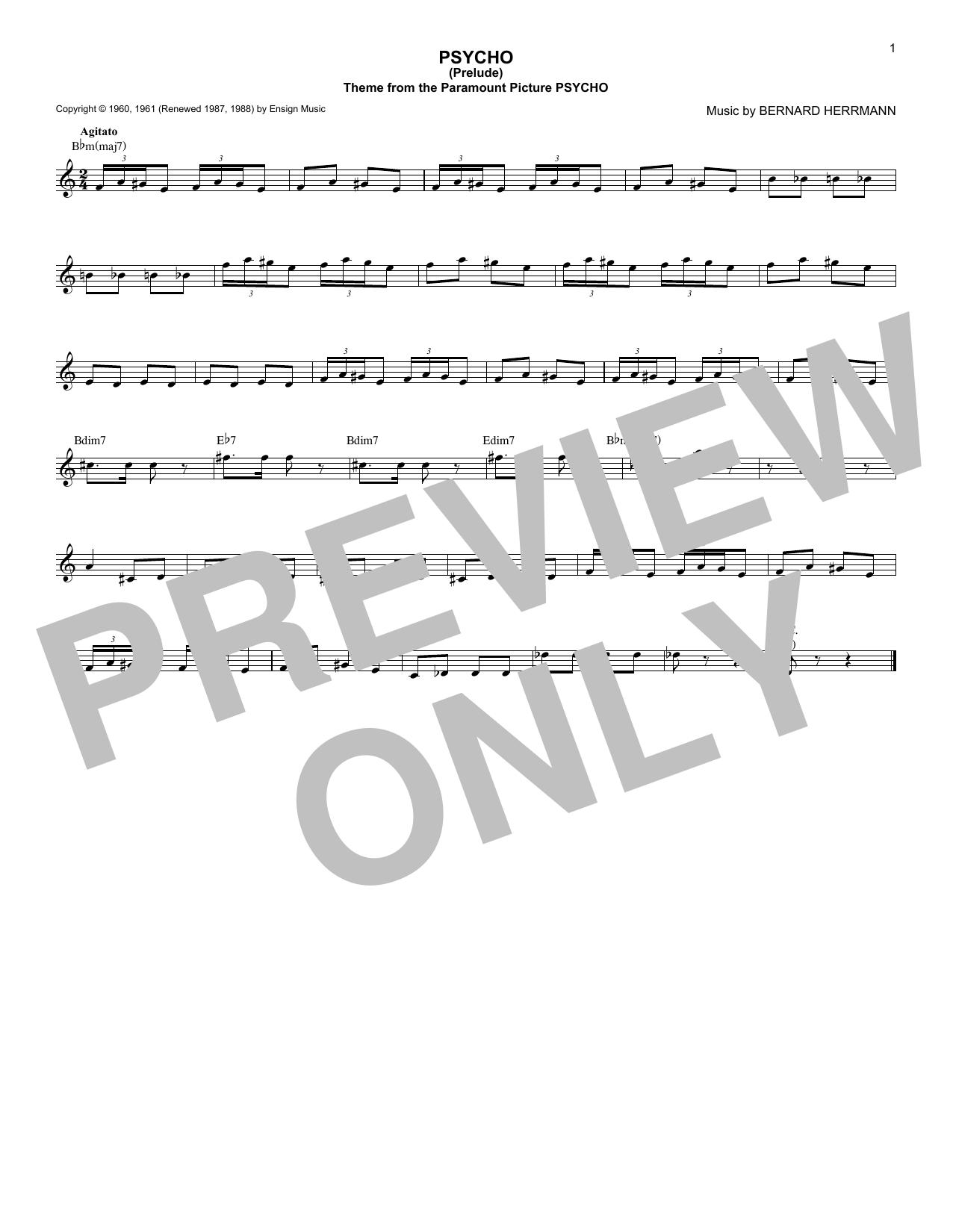 Bernard Herrmann - Psycho (Prelude)