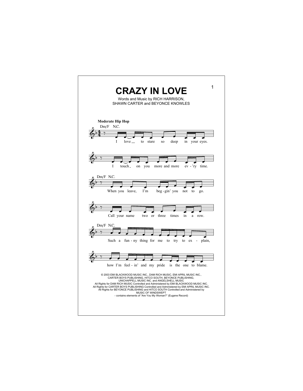 Sheet Music Digital Files To Print Licensed Beyonce Knowles