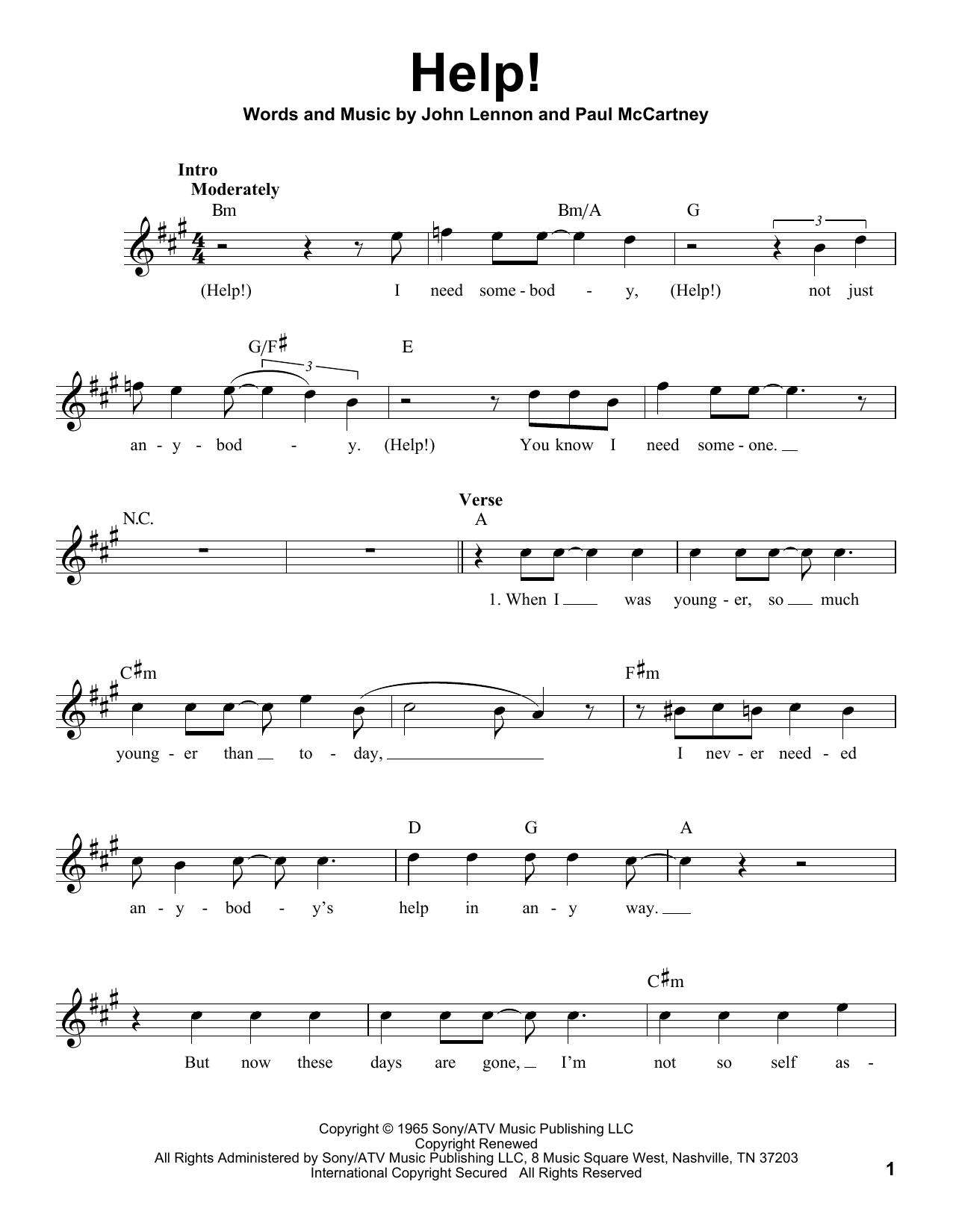 Sheet music digital files to print licensed john lennon digital file types hexwebz Image collections