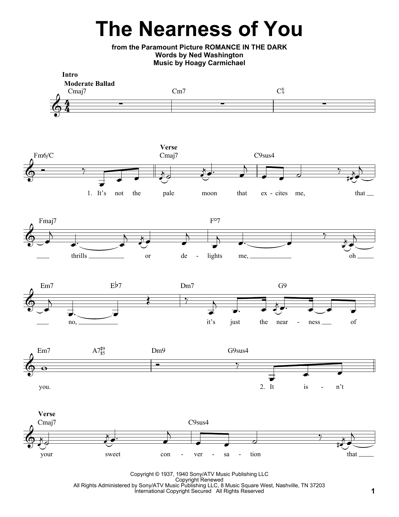 The nearness of you guitar chords gallery guitar chords examples sheet music digital files to print licensed hoagy carmichael the nearness of you fatherlandz gallery hexwebz Gallery