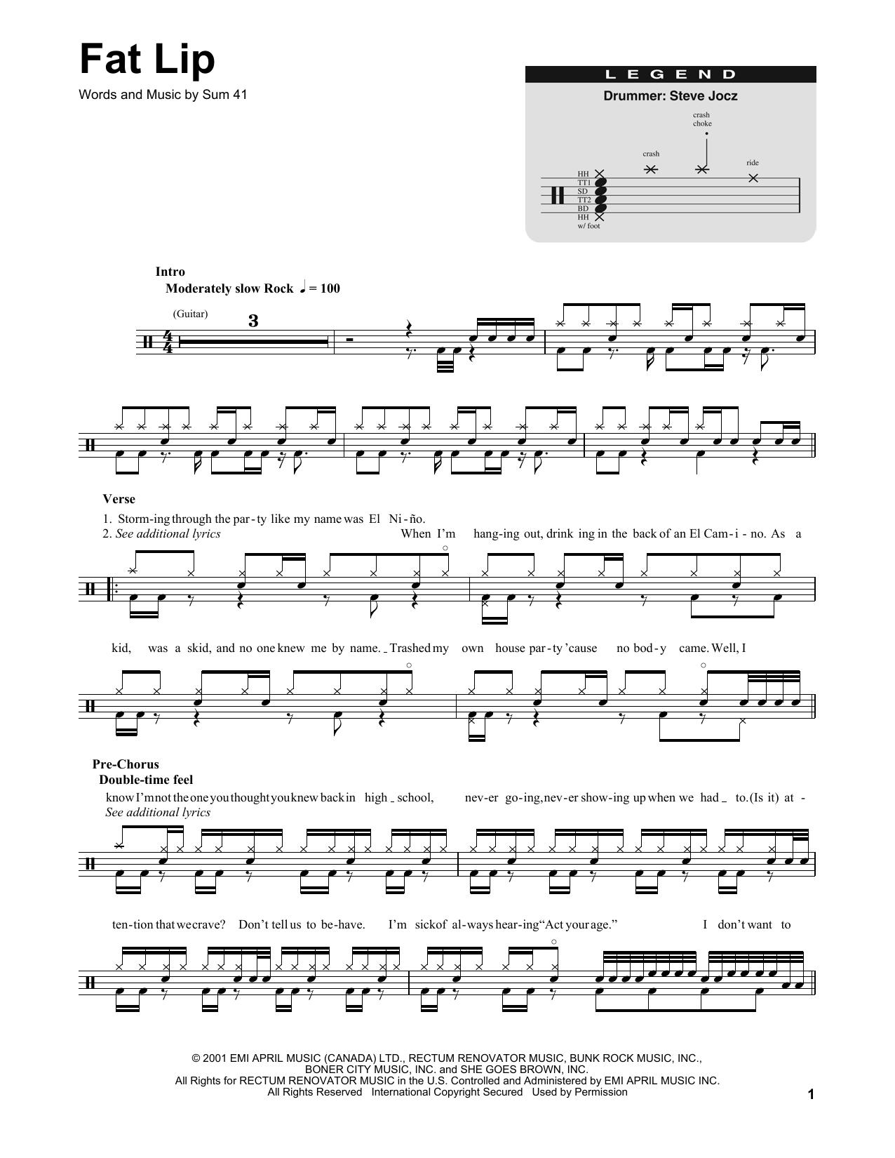 Sheet Music Digital Files To Print Licensed Sum 41 Digital Sheet Music