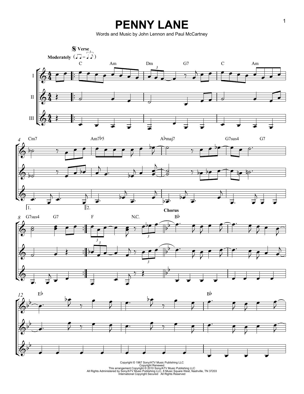 Partition autre Penny Lane de The Beatles - Autre