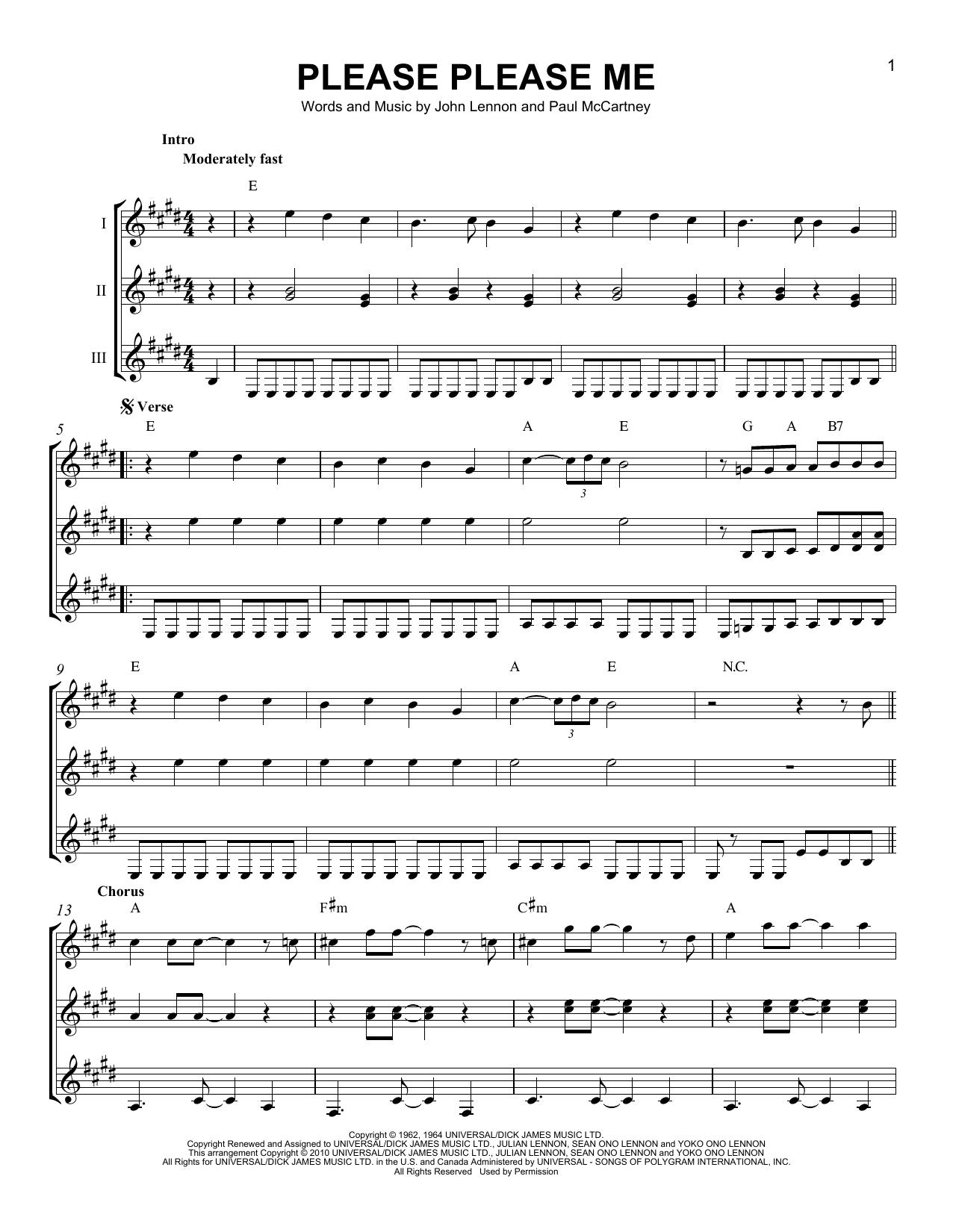 Partition autre Please Please Me de The Beatles - Autre