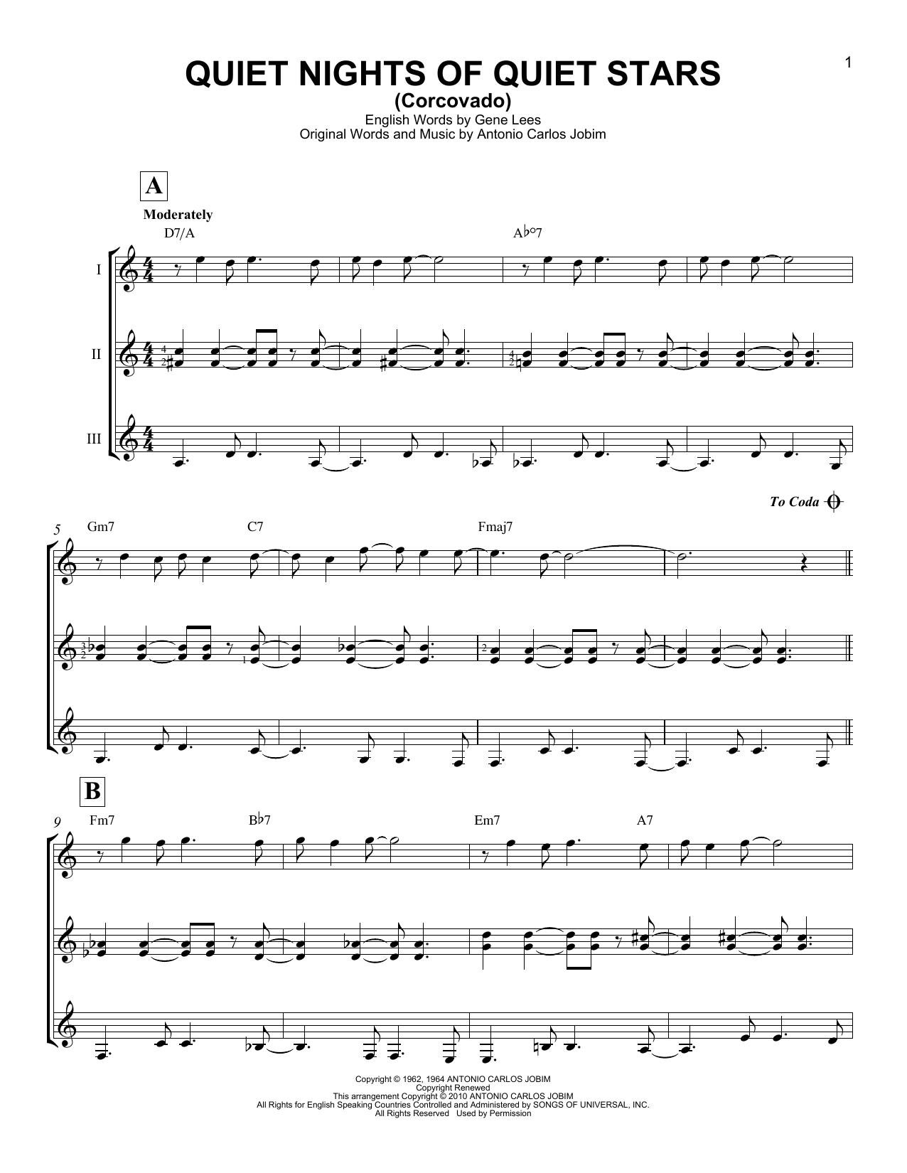 Partition autre Quiet Nights Of Quiet Stars (Corcovado) de Andy Williams - Autre