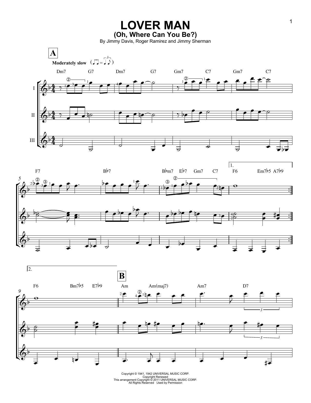 Partition autre Lover Man (Oh, Where Can You Be?) de Billie Holiday - Autre