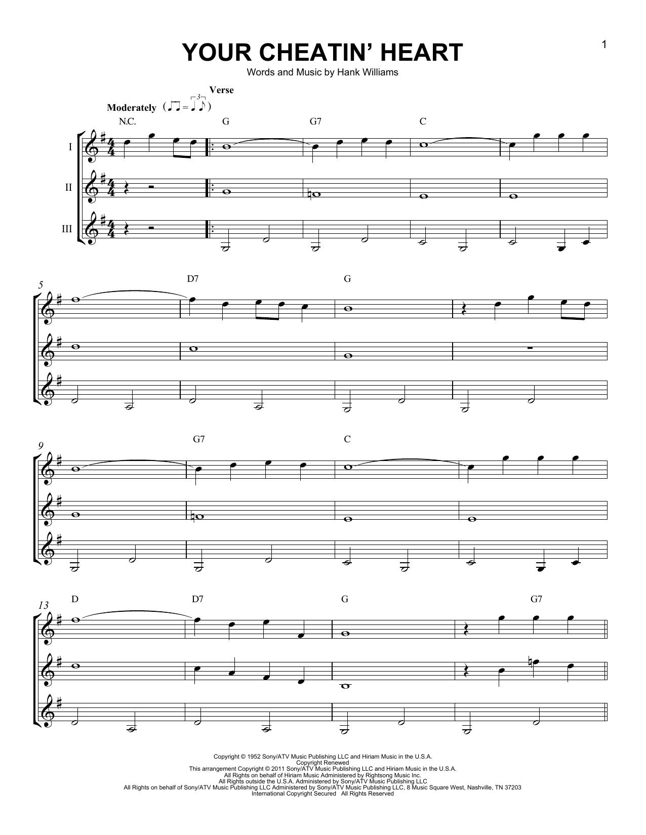 Partition autre Your Cheatin' Heart de Hank Williams - Autre