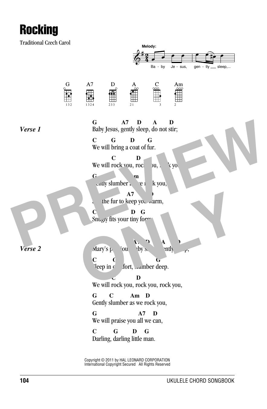Tablature guitare Rocking de Christmas Carol - Ukulele (strumming patterns)