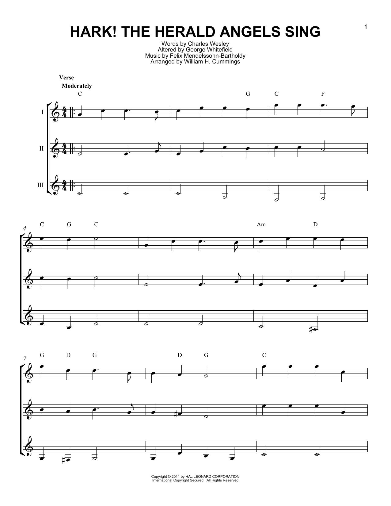 Partition autre Hark! The Herald Angels Sing de Charles Wesley - Autre