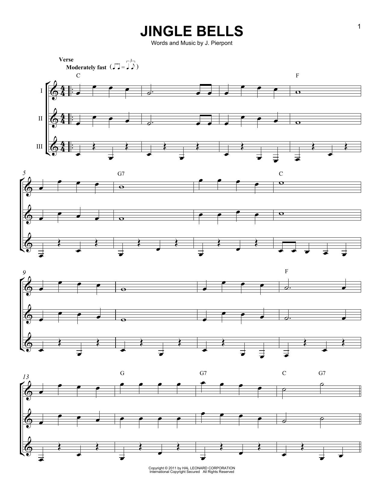 Partition autre Jingle Bells de J. Pierpont - Autre