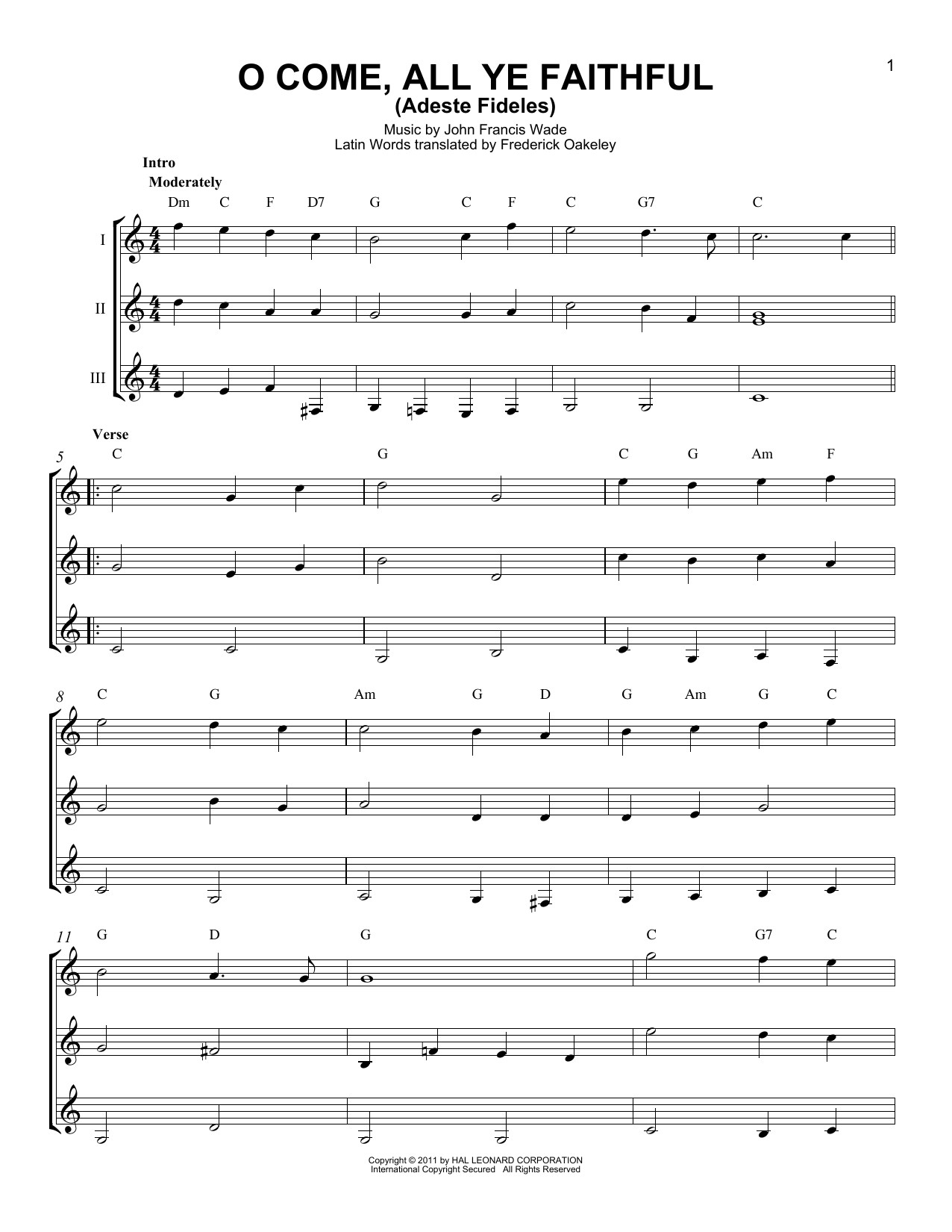 Partition autre O Come, All Ye Faithful (Adeste Fideles) de John Francis Wade - Autre