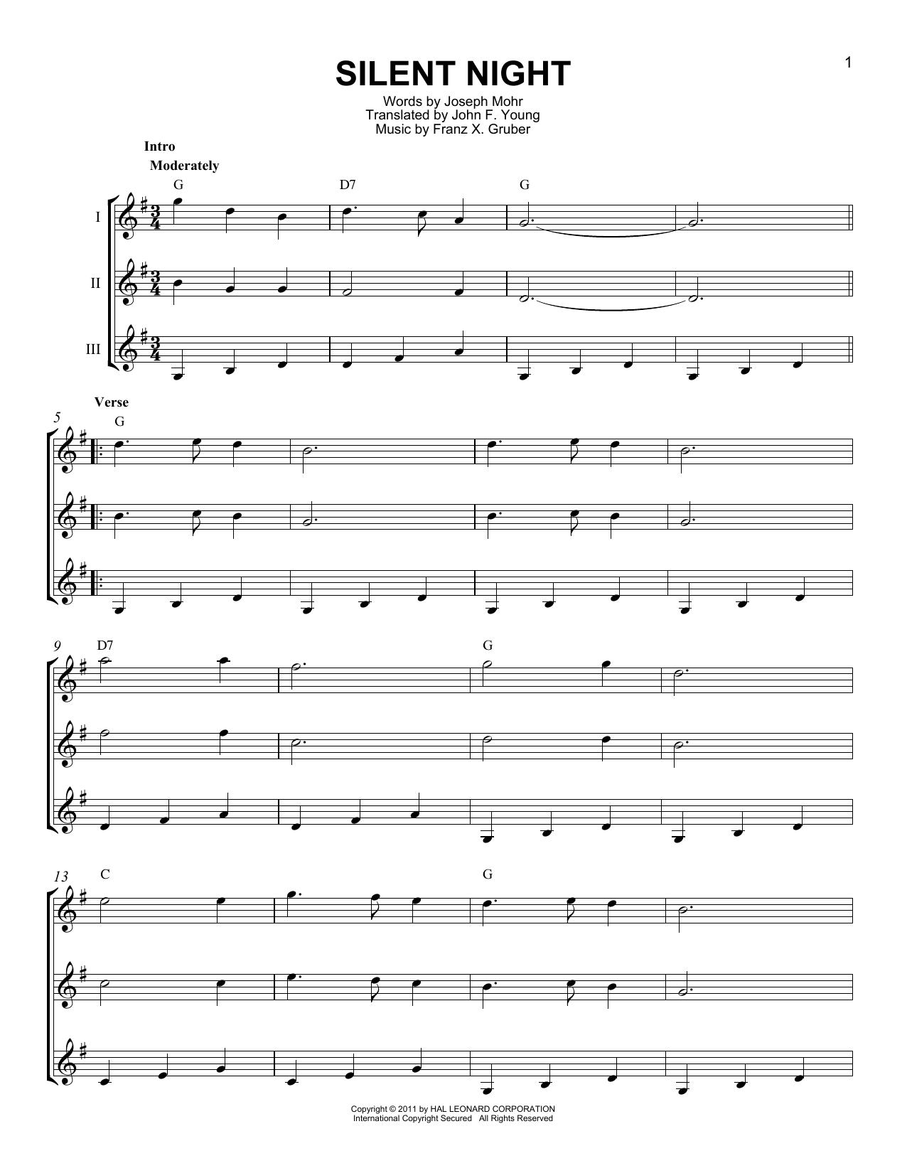 Partition autre Silent Night de Franz X. Gruber - Autre