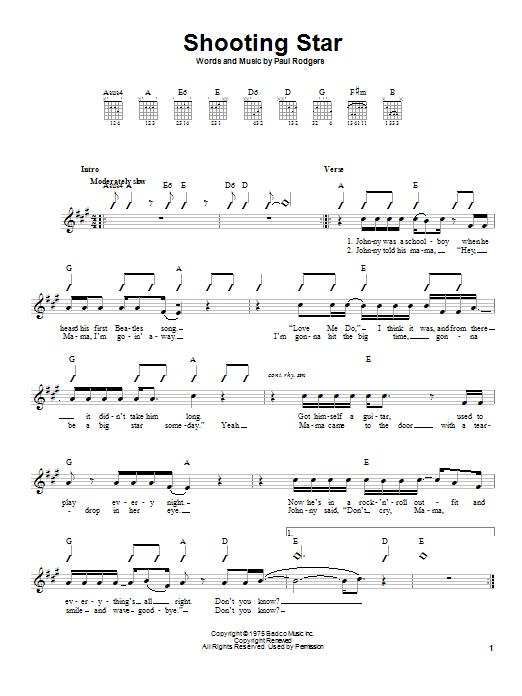 Sheet Music Digital Files To Print - Licensed Bad Company Digital ...